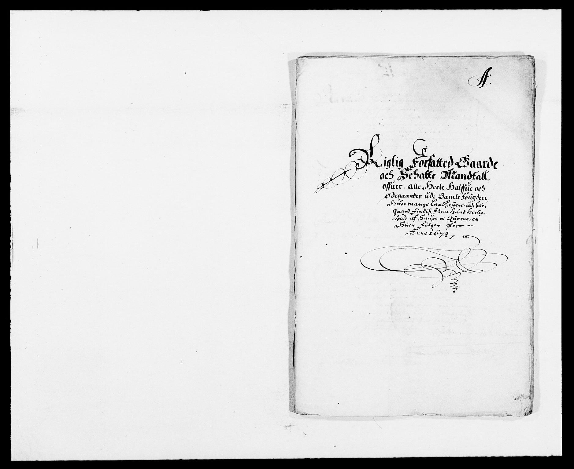RA, Rentekammeret inntil 1814, Reviderte regnskaper, Fogderegnskap, R34/L2042: Fogderegnskap Bamble, 1673-1675, s. 126