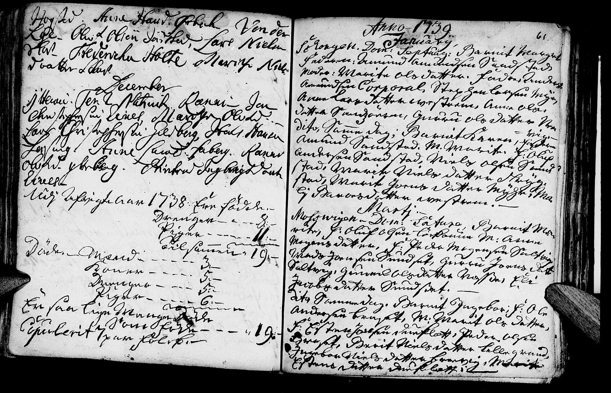 SAT, Ministerialprotokoller, klokkerbøker og fødselsregistre - Nord-Trøndelag, 722/L0215: Ministerialbok nr. 722A02, 1718-1755, s. 61