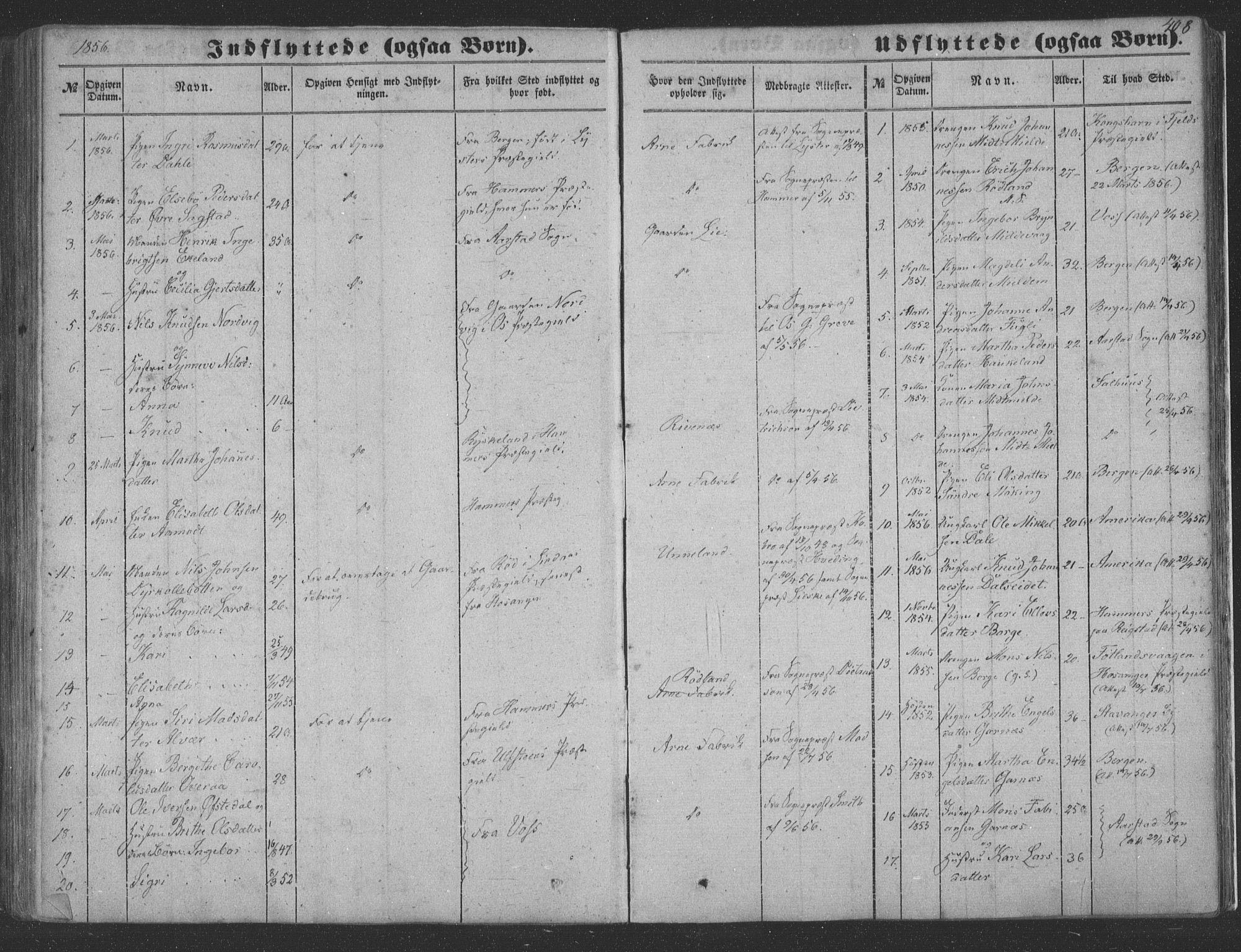 SAB, Haus Sokneprestembete, H/Haa: Ministerialbok nr. A 16 II, 1848-1857, s. 408
