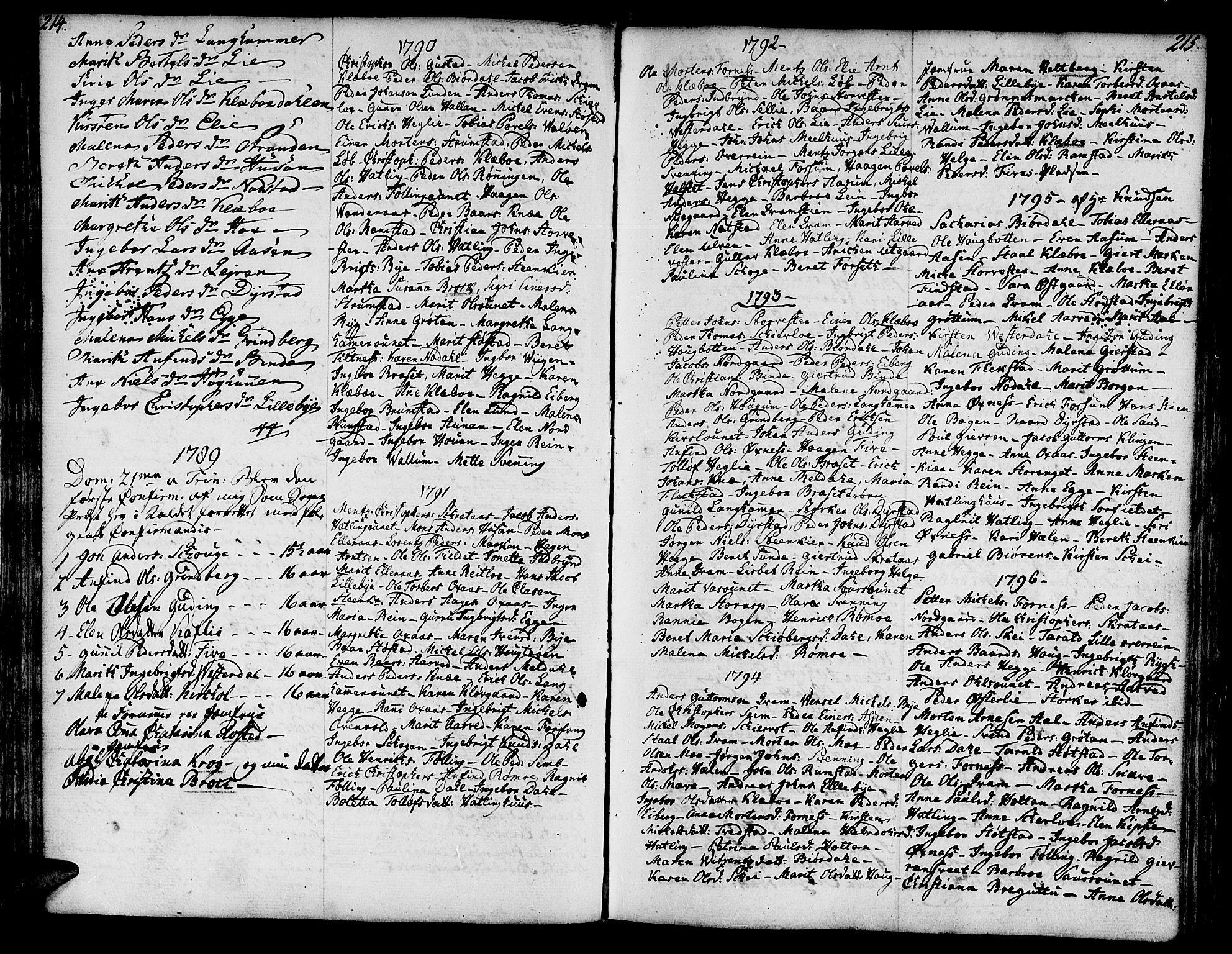 SAT, Ministerialprotokoller, klokkerbøker og fødselsregistre - Nord-Trøndelag, 746/L0440: Ministerialbok nr. 746A02, 1760-1815, s. 214-215