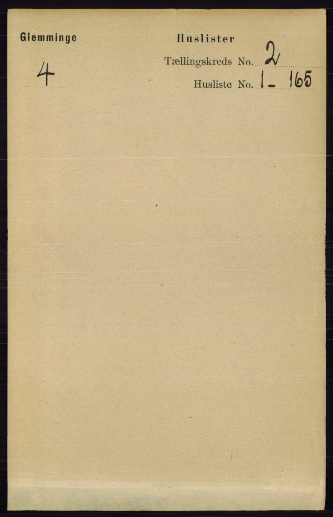 RA, Folketelling 1891 for 0132 Glemmen herred, 1891, s. 401