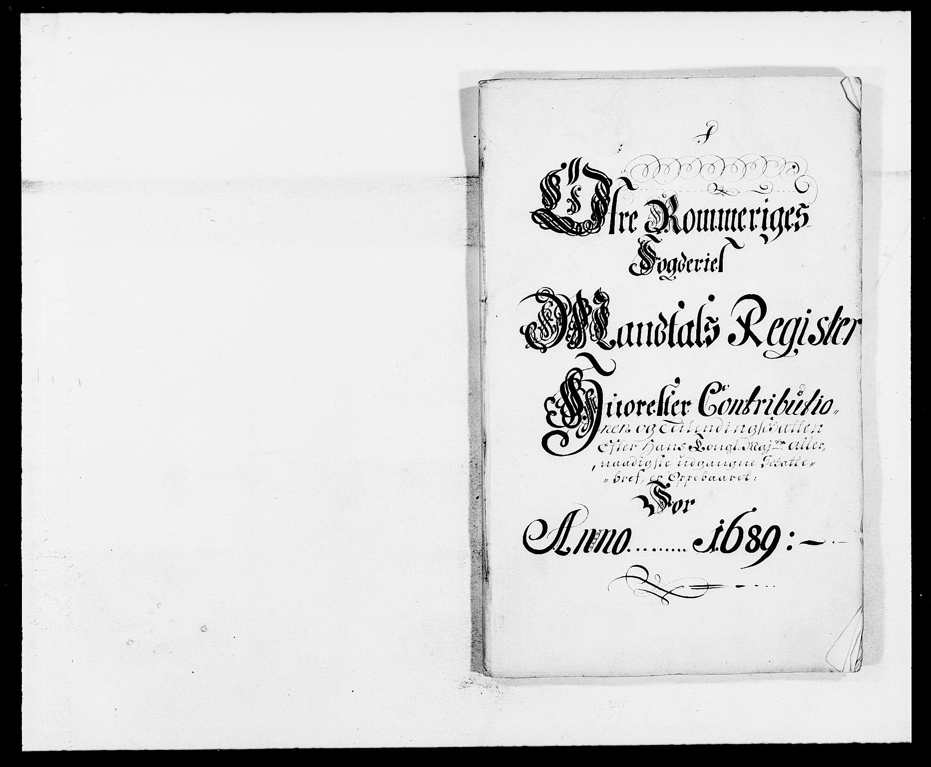 RA, Rentekammeret inntil 1814, Reviderte regnskaper, Fogderegnskap, R12/L0701: Fogderegnskap Øvre Romerike, 1689, s. 89