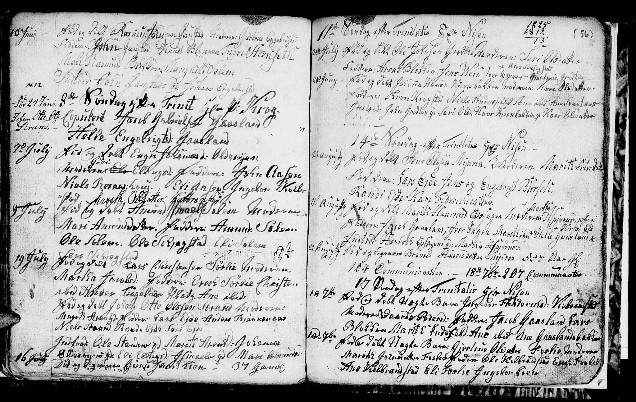 SAT, Ministerialprotokoller, klokkerbøker og fødselsregistre - Sør-Trøndelag, 694/L1129: Klokkerbok nr. 694C01, 1793-1815, s. 56