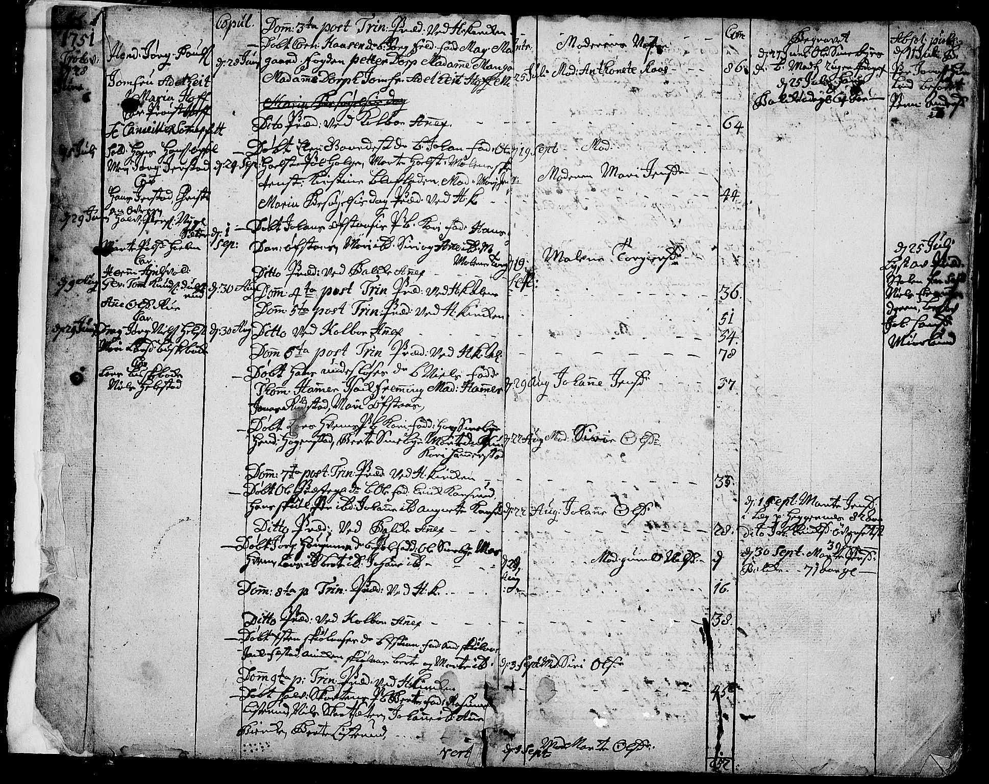 SAH, Toten prestekontor, Ministerialbok nr. 4, 1751-1761, s. 1