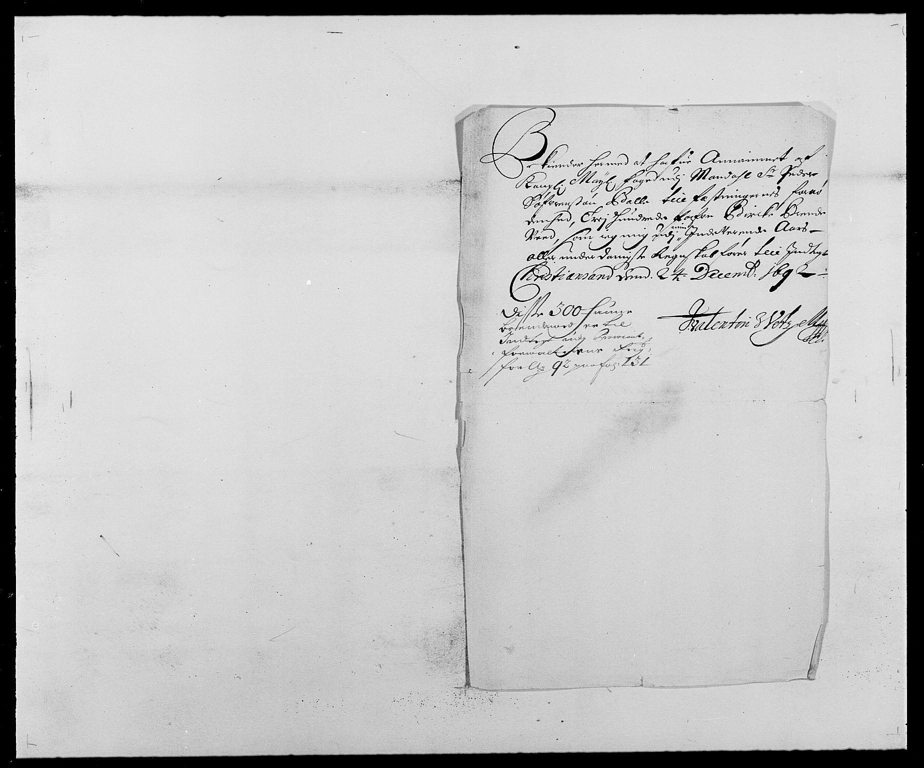 RA, Rentekammeret inntil 1814, Reviderte regnskaper, Fogderegnskap, R42/L2544: Mandal fogderi, 1692-1693, s. 60