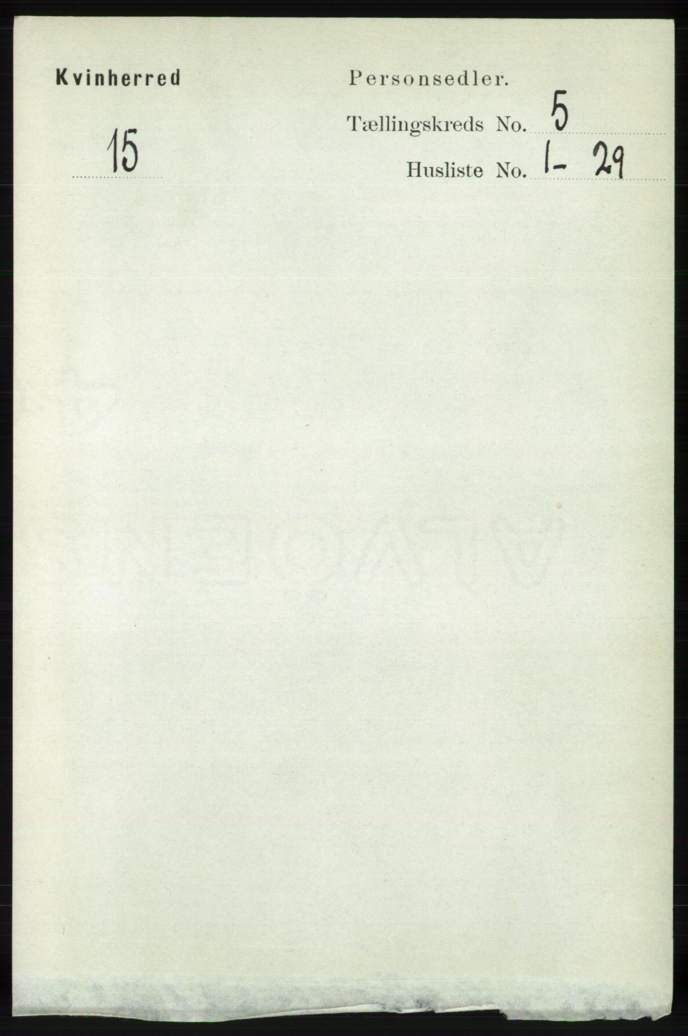 RA, Folketelling 1891 for 1224 Kvinnherad herred, 1891, s. 1741