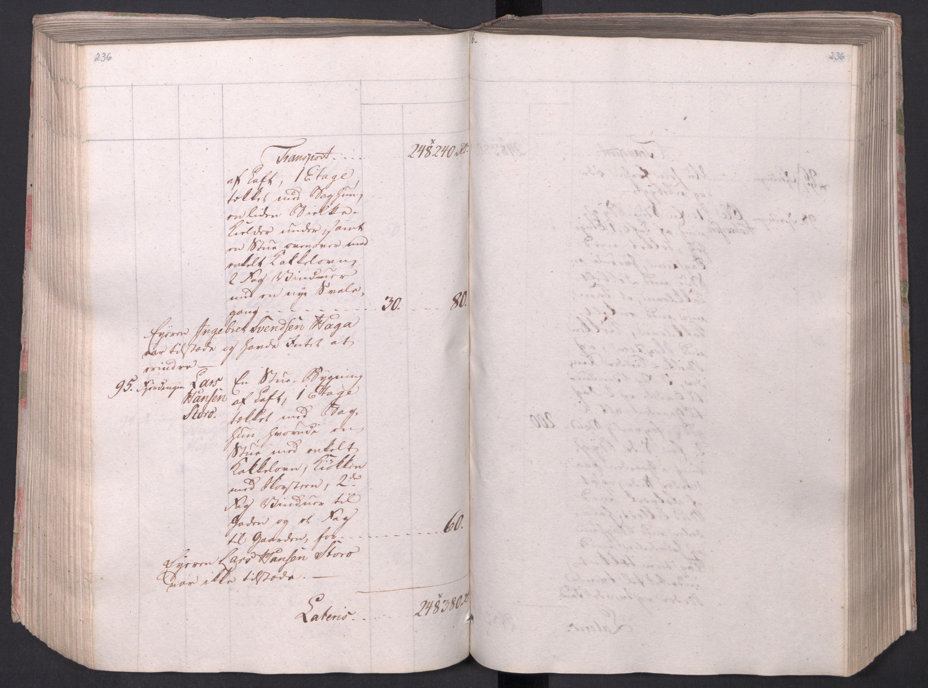 SAO, Kristiania stiftamt, I/Ia/L0015: Branntakster, 1797, s. 236