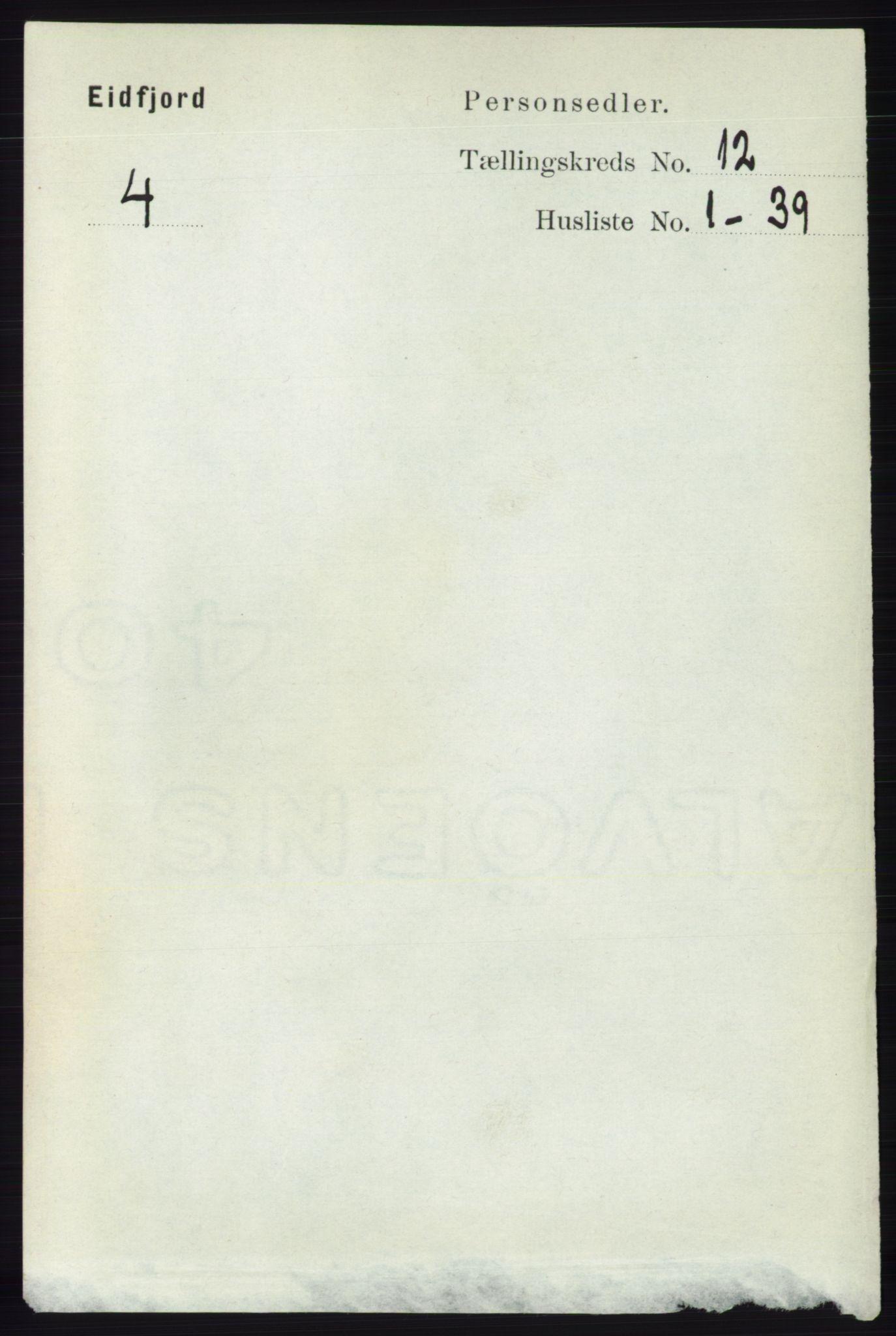 RA, Folketelling 1891 for 1233 Ulvik herred, 1891, s. 3642