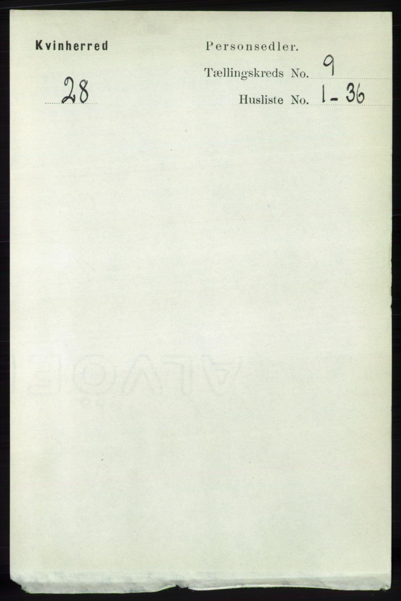 RA, Folketelling 1891 for 1224 Kvinnherad herred, 1891, s. 3302