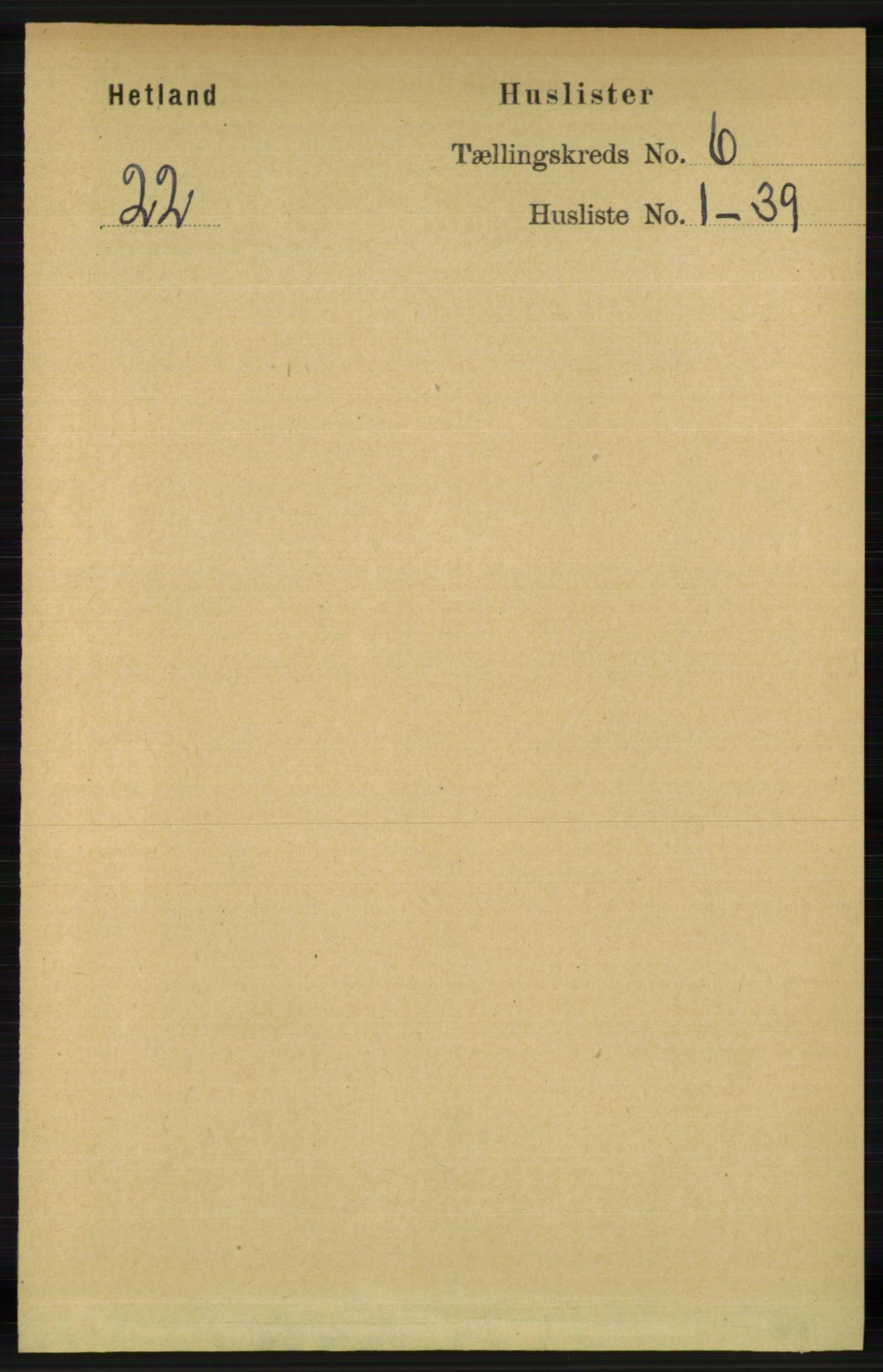 RA, Folketelling 1891 for 1126 Hetland herred, 1891, s. 3353