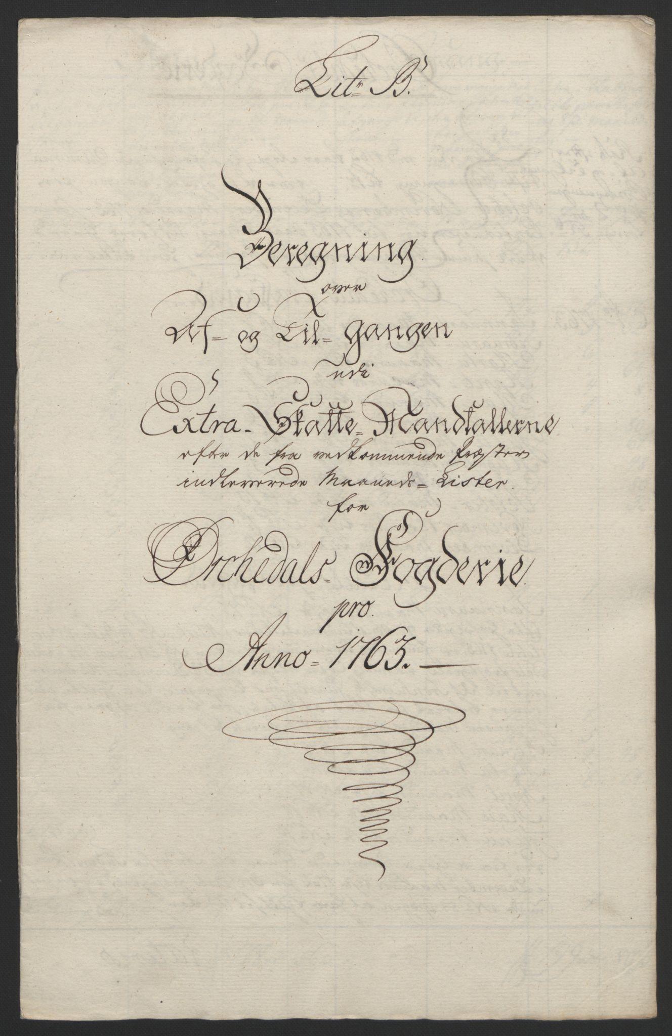 RA, Rentekammeret inntil 1814, Reviderte regnskaper, Fogderegnskap, R60/L4094: Ekstraskatten Orkdal og Gauldal, 1762-1765, s. 93