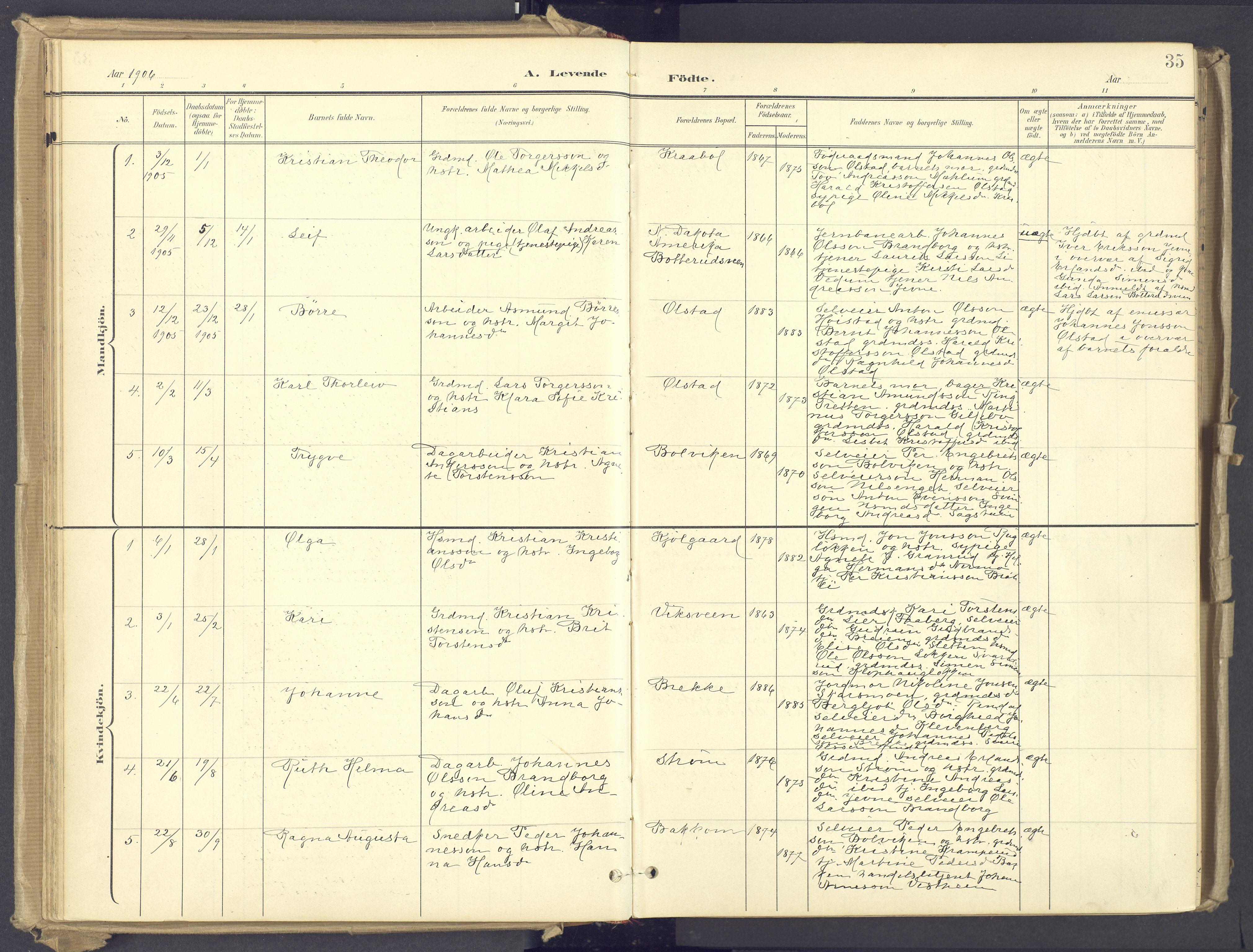 SAH, Øyer prestekontor, Ministerialbok nr. 12, 1897-1920, s. 35