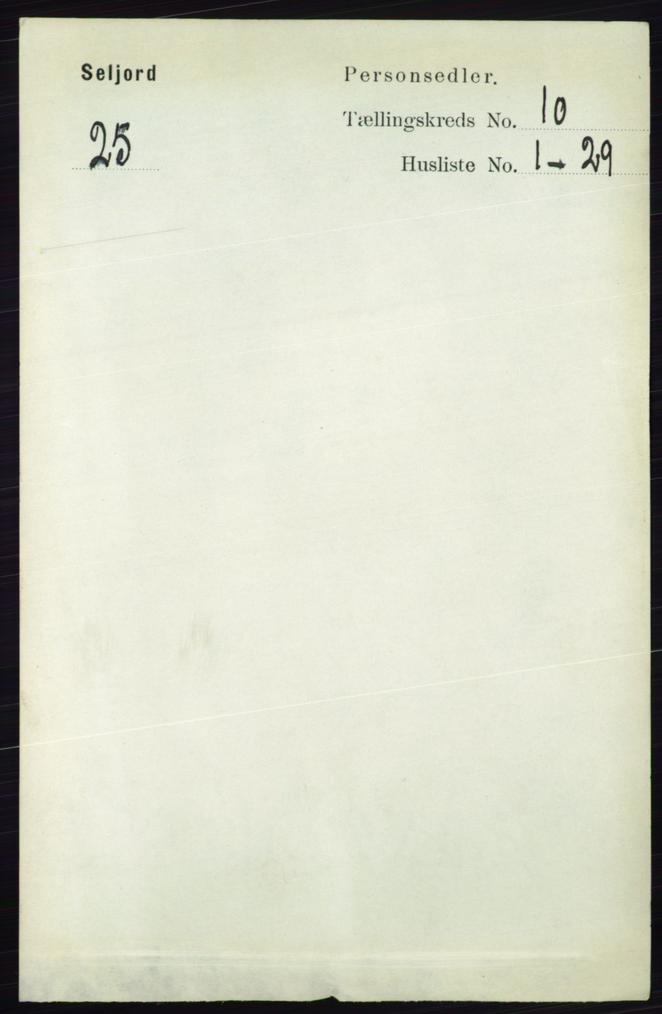 RA, Folketelling 1891 for 0828 Seljord herred, 1891, s. 3454