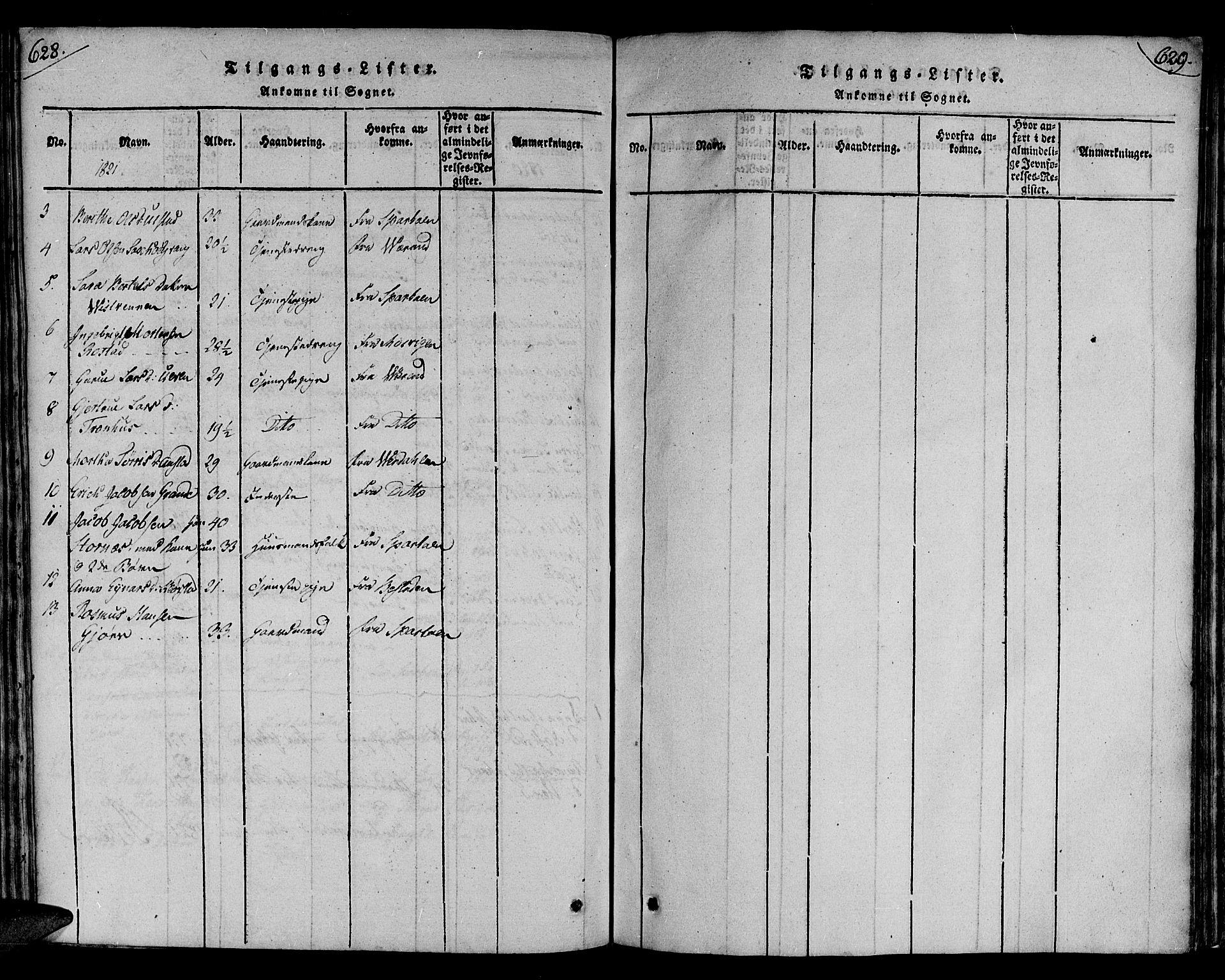 SAT, Ministerialprotokoller, klokkerbøker og fødselsregistre - Nord-Trøndelag, 730/L0275: Ministerialbok nr. 730A04, 1816-1822, s. 628-629