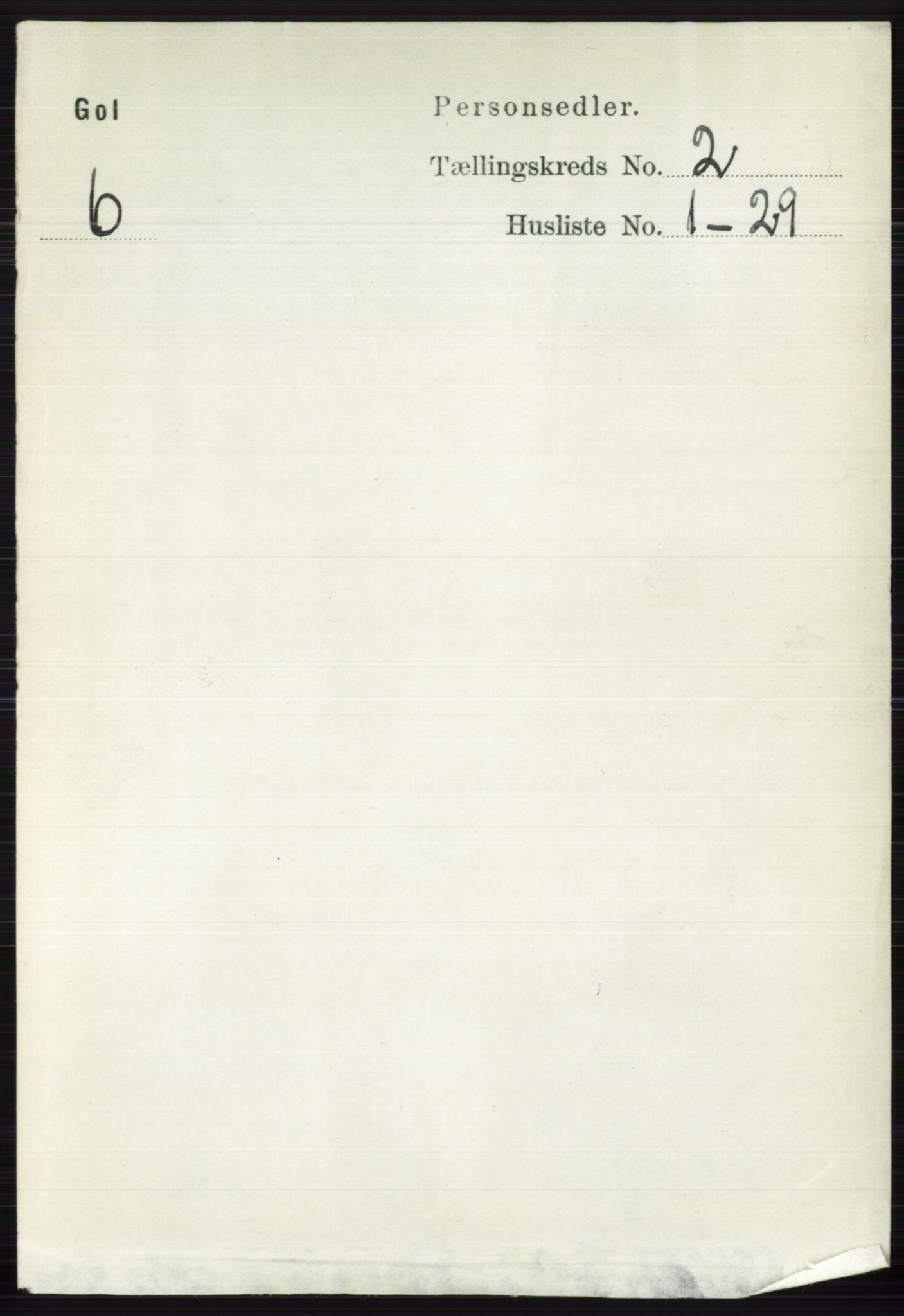 RA, Folketelling 1891 for 0617 Gol og Hemsedal herred, 1891, s. 713