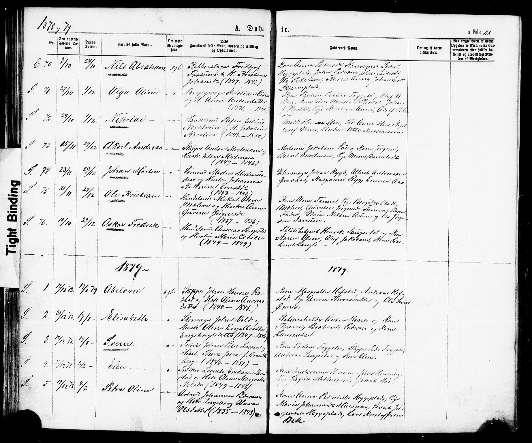 SAT, Ministerialprotokoller, klokkerbøker og fødselsregistre - Nord-Trøndelag, 739/L0370: Ministerialbok nr. 739A02, 1868-1881, s. 48