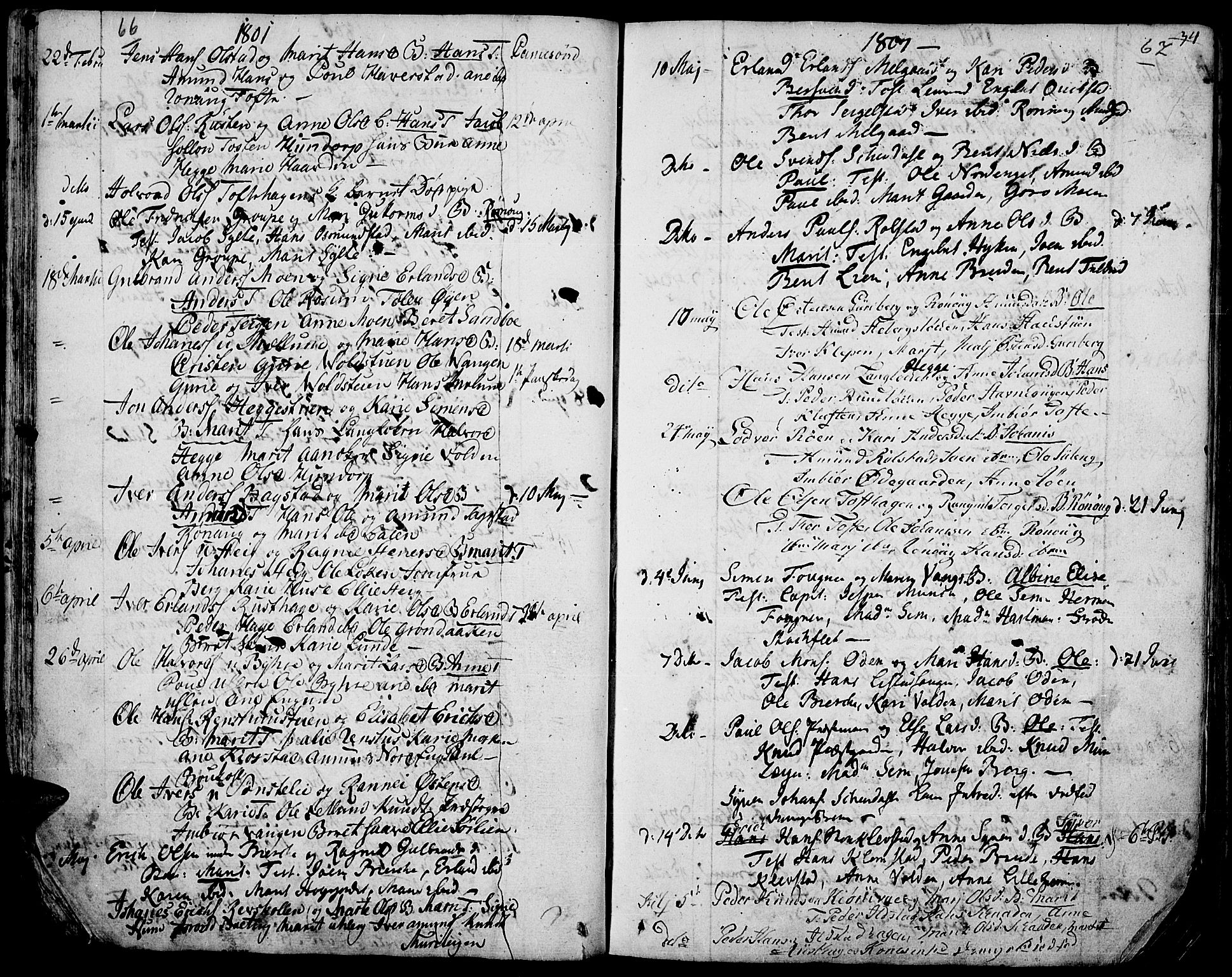 SAH, Fron prestekontor, H/Ha/Haa/L0001: Ministerialbok nr. 1, 1799-1816, s. 66-67