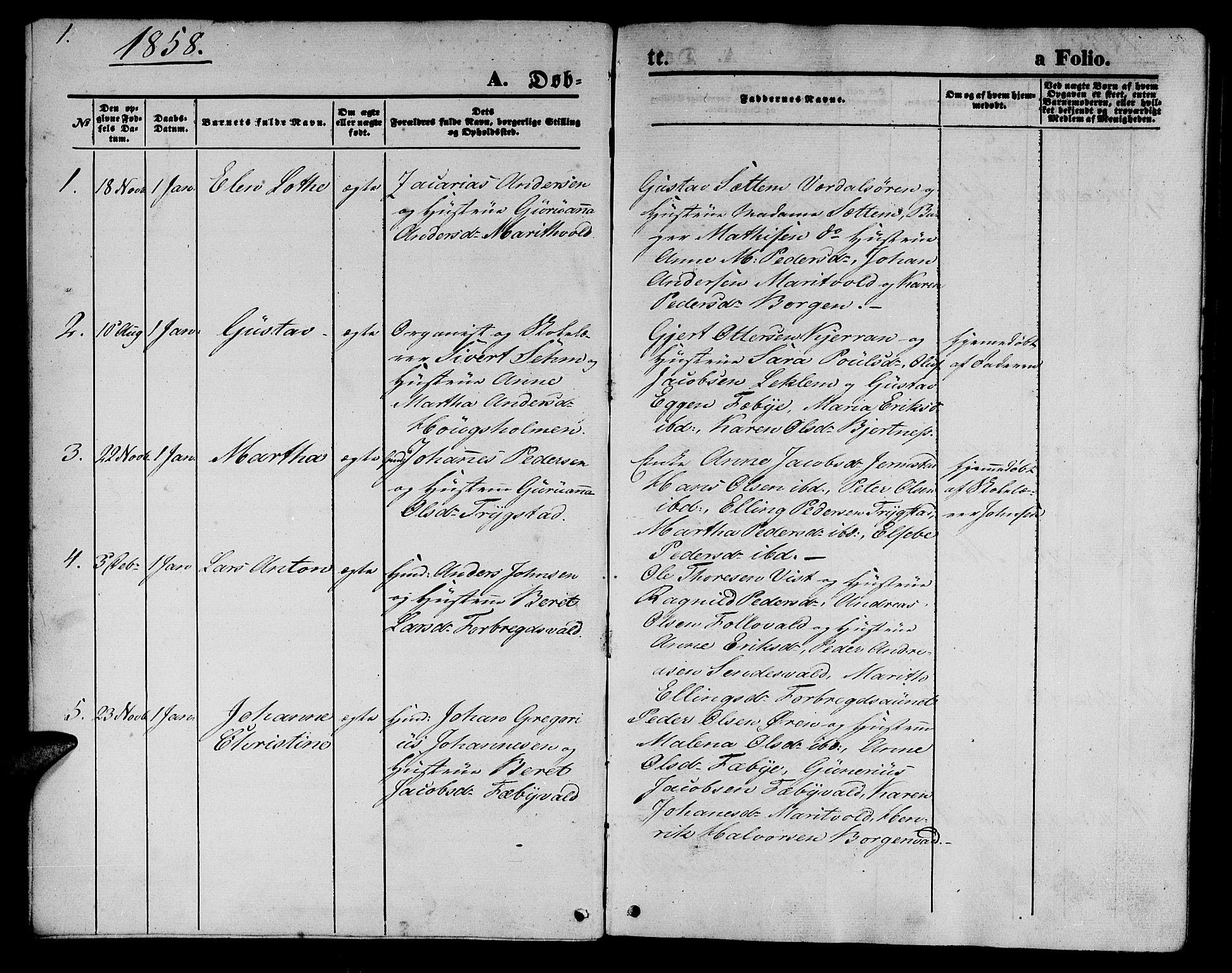 SAT, Ministerialprotokoller, klokkerbøker og fødselsregistre - Nord-Trøndelag, 723/L0254: Klokkerbok nr. 723C02, 1858-1868, s. 1