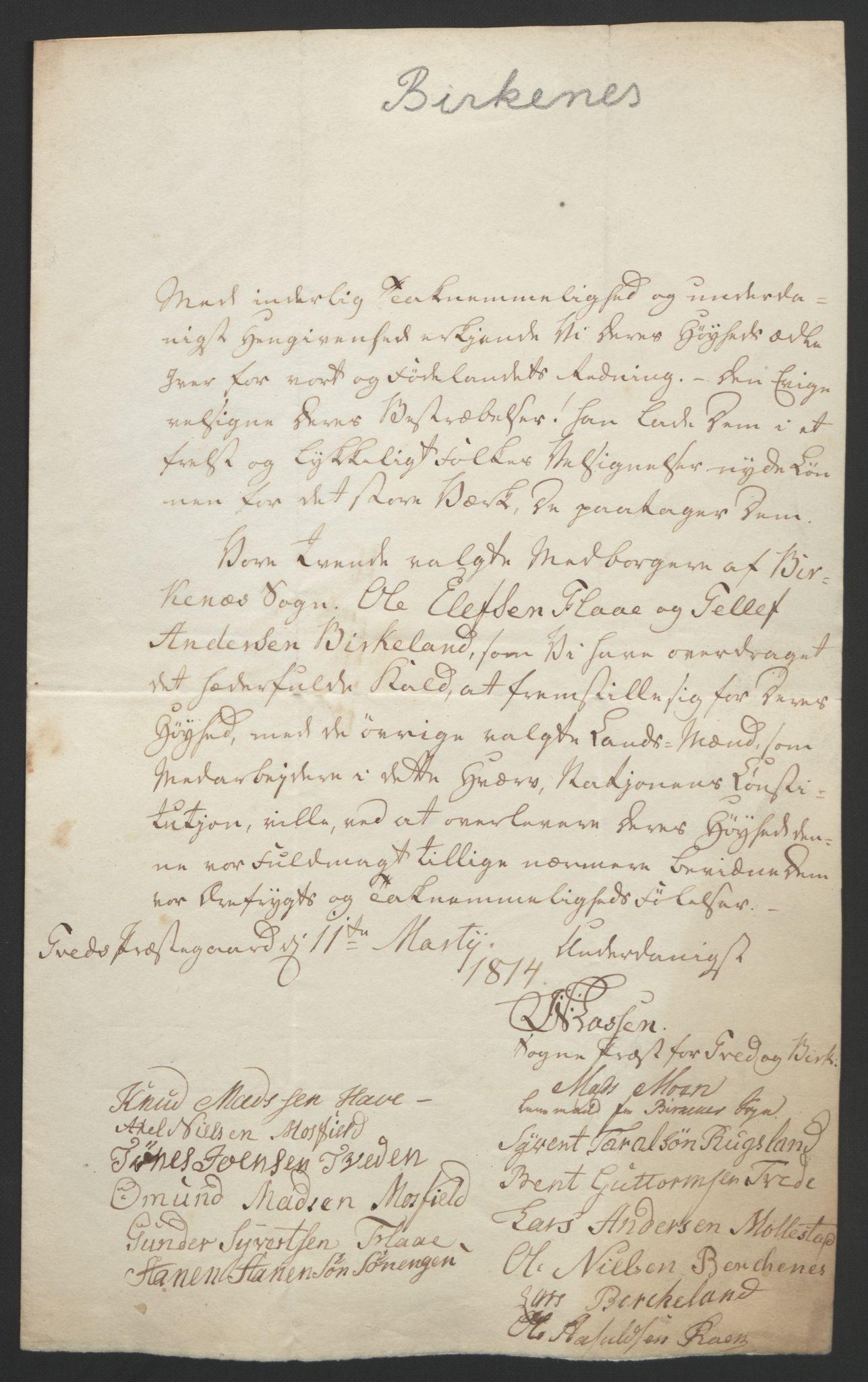 RA, Statsrådssekretariatet, D/Db/L0008: Fullmakter for Eidsvollsrepresentantene i 1814. , 1814, s. 77