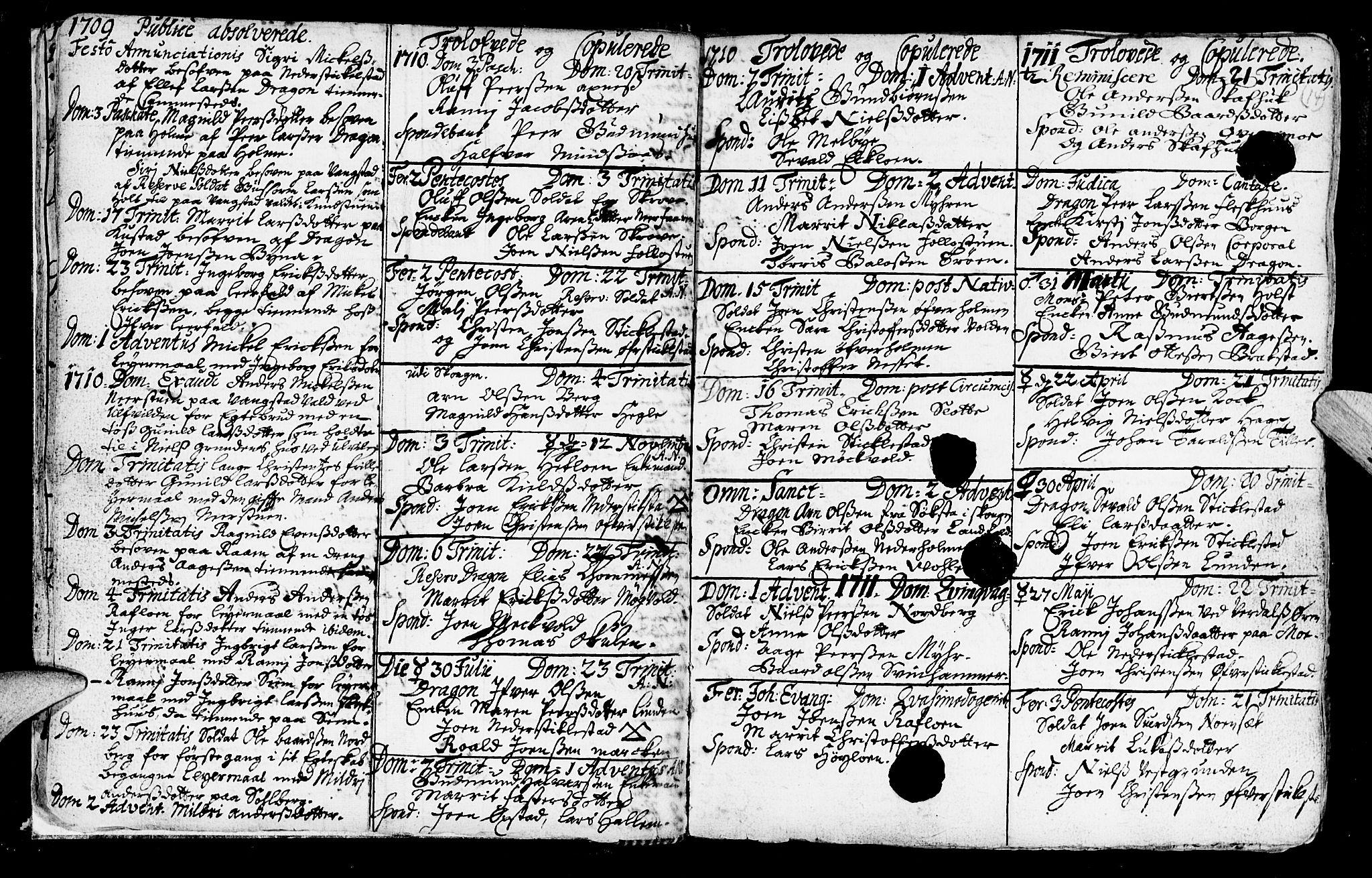 SAT, Ministerialprotokoller, klokkerbøker og fødselsregistre - Nord-Trøndelag, 723/L0230: Ministerialbok nr. 723A01, 1705-1747, s. 14