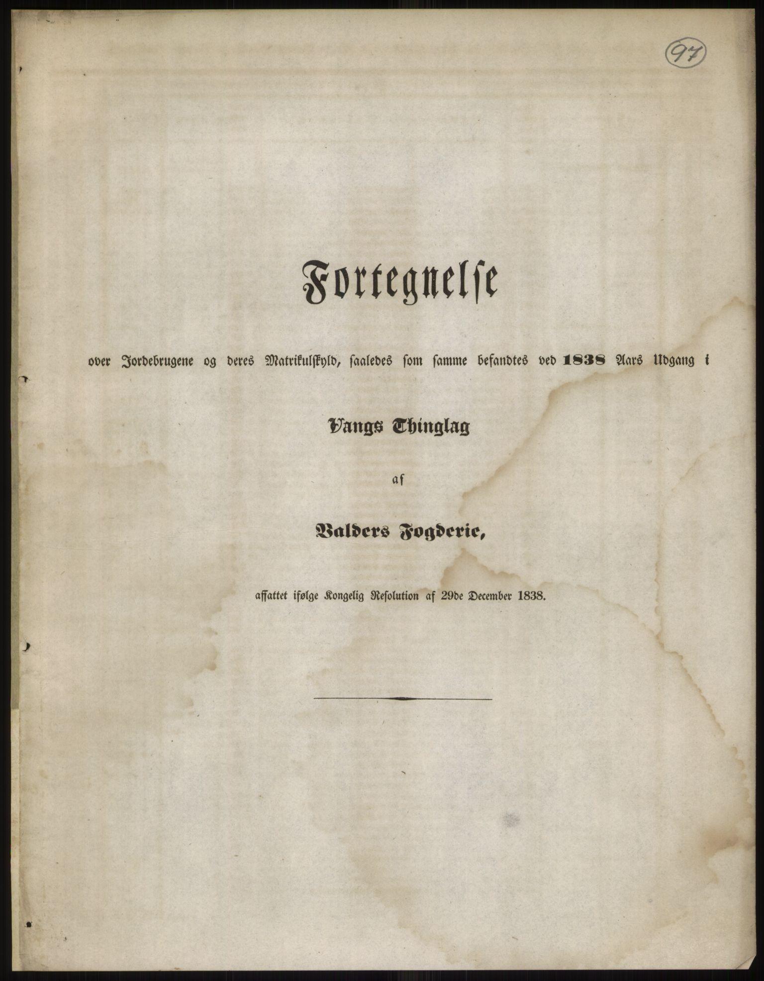 RA, 1838-matrikkelen (publikasjon)*, 1838, s. 97
