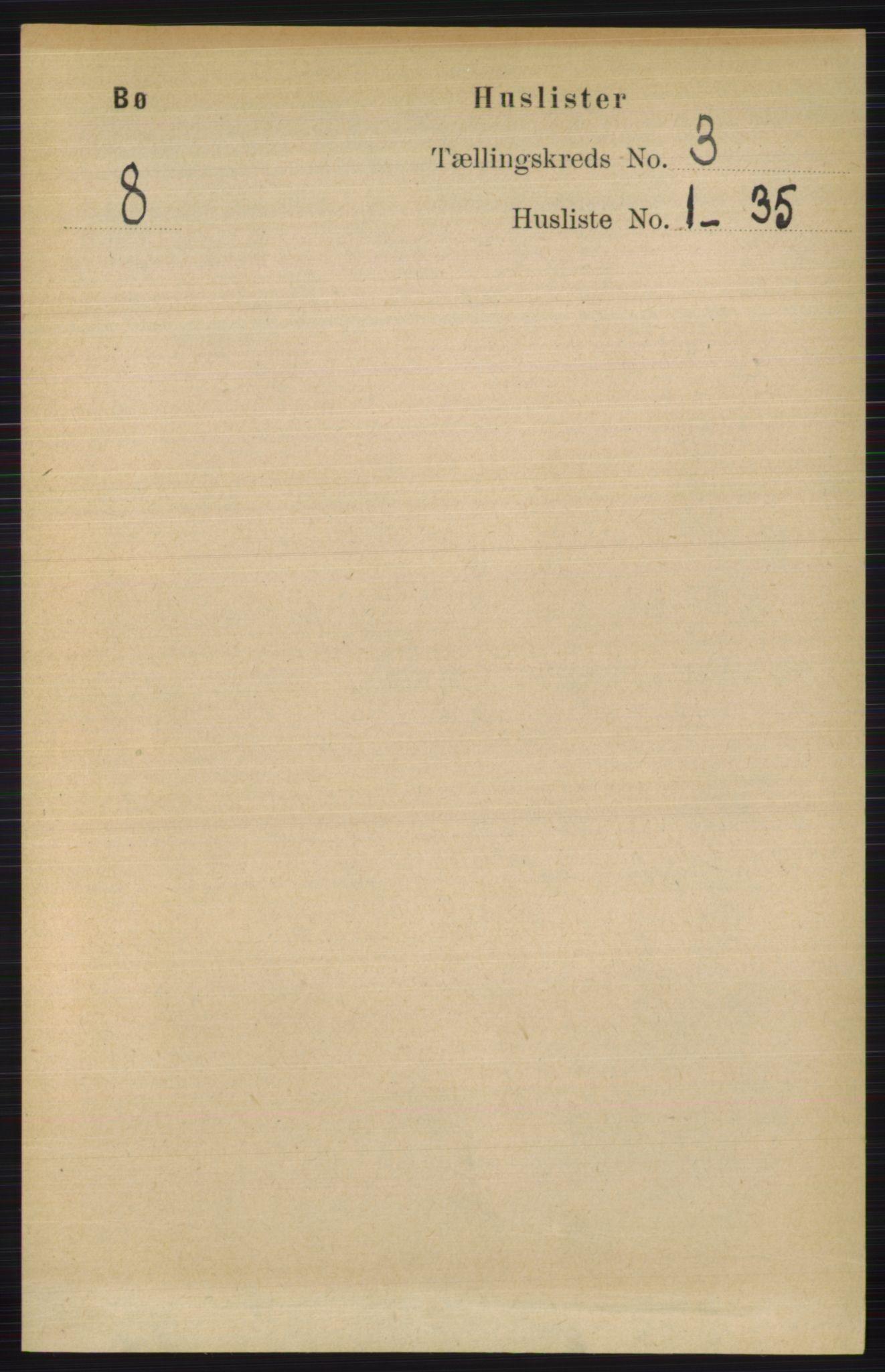 RA, Folketelling 1891 for 0821 Bø herred, 1891, s. 975