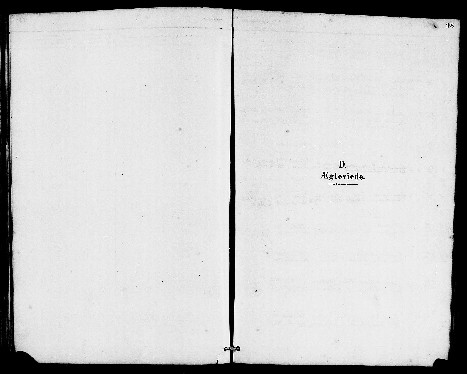 SAB, Eid Sokneprestembete, H/Hab: Klokkerbok nr. C 2, 1887-1906, s. 98