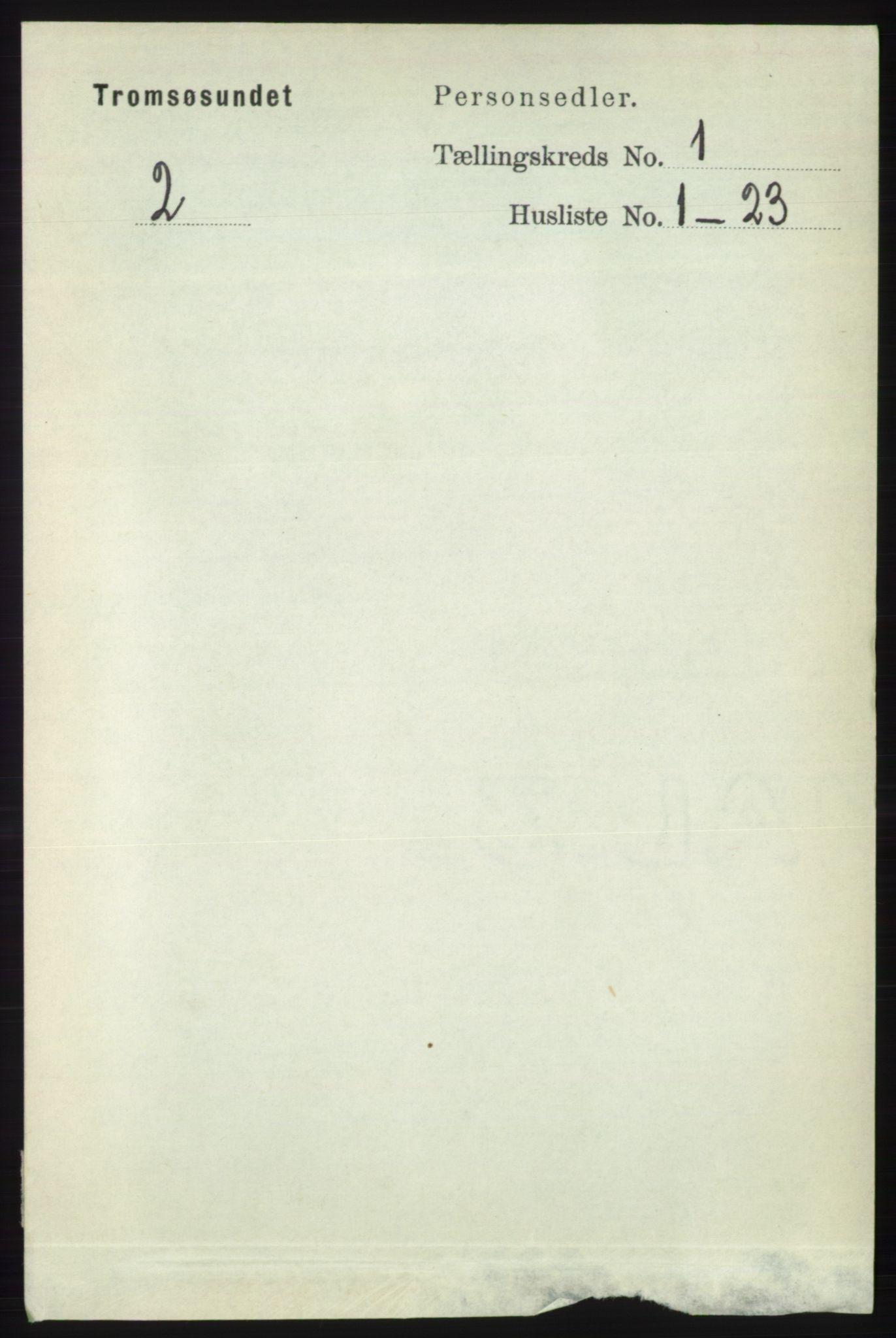 RA, Folketelling 1891 for 1934 Tromsøysund herred, 1891, s. 81
