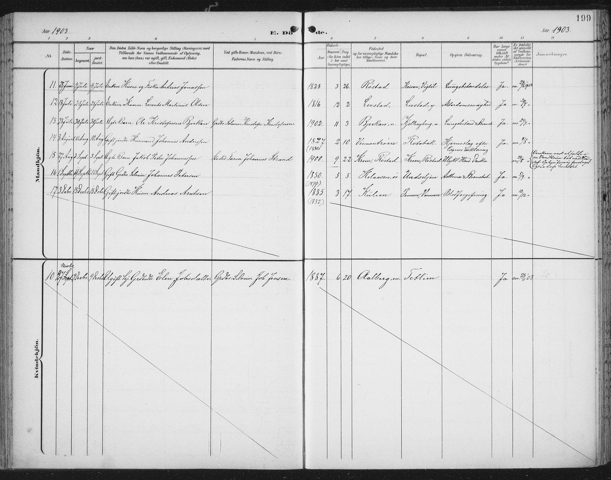 SAT, Ministerialprotokoller, klokkerbøker og fødselsregistre - Nord-Trøndelag, 701/L0011: Ministerialbok nr. 701A11, 1899-1915, s. 199