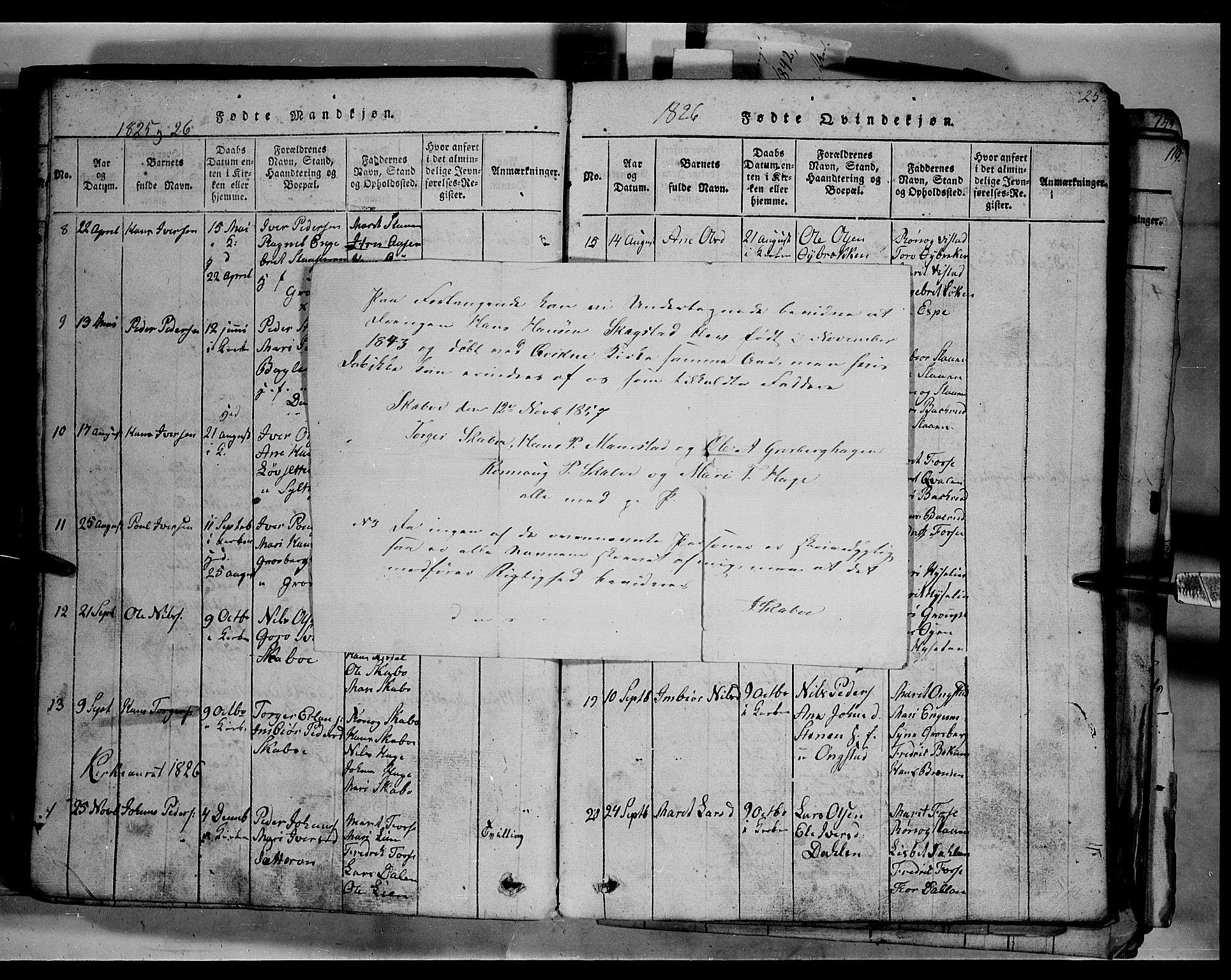 SAH, Fron prestekontor, H/Ha/Hab/L0003: Klokkerbok nr. 3, 1816-1850, s. 25