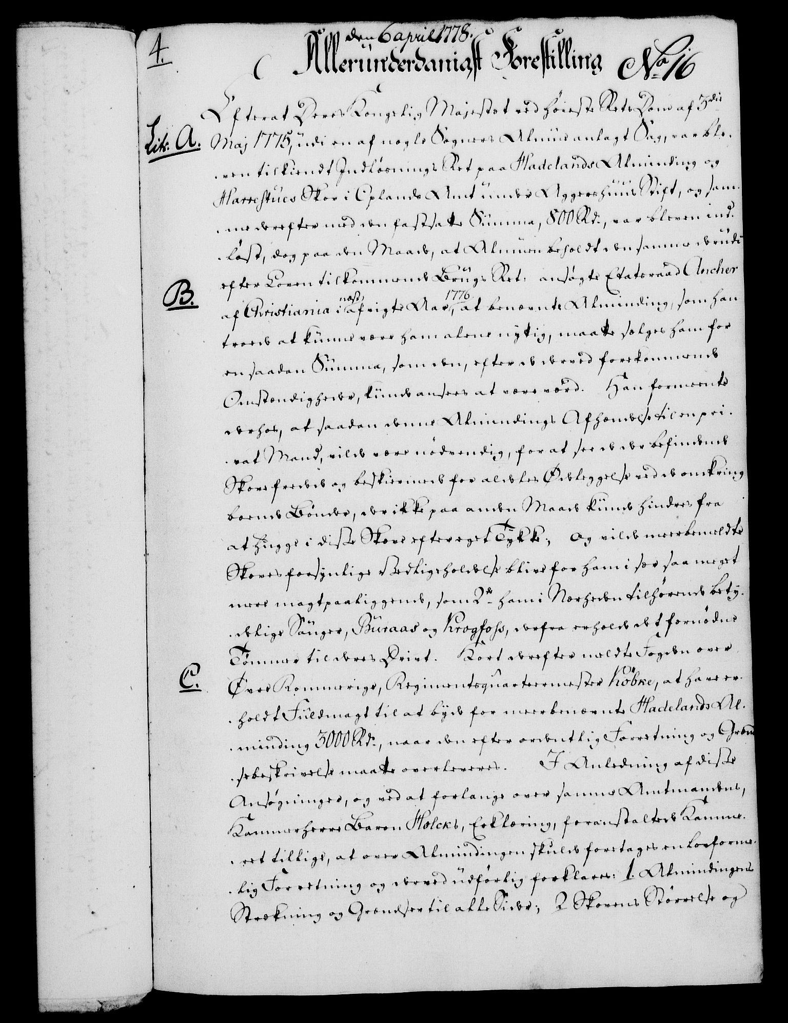 RA, Rentekammeret, Kammerkanselliet, G/Gf/Gfa/L0060: Norsk relasjons- og resolusjonsprotokoll (merket RK 52.60), 1778, s. 140