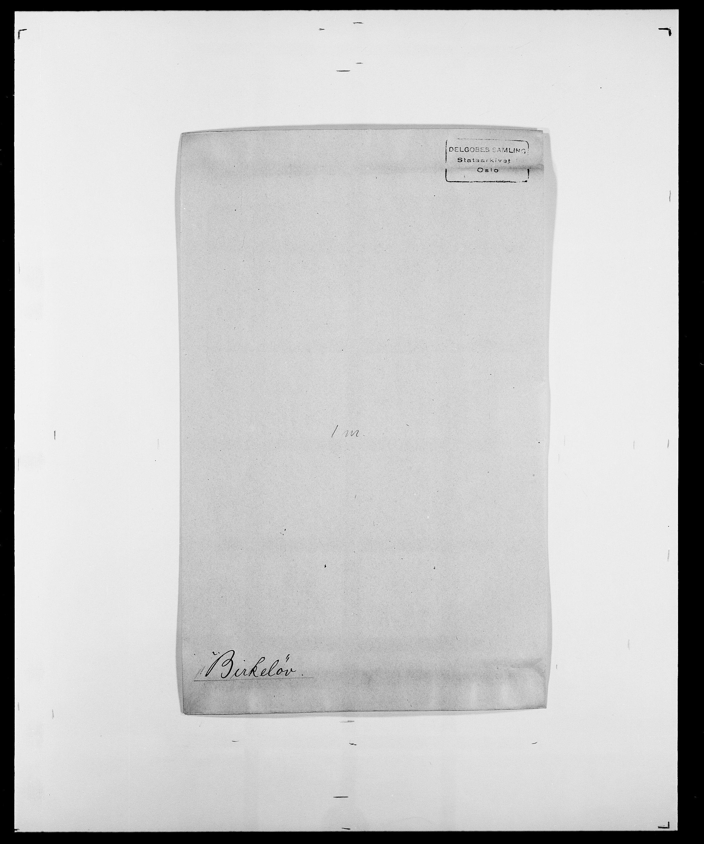 SAO, Delgobe, Charles Antoine - samling, D/Da/L0004: Bergendahl - Blære, s. 370