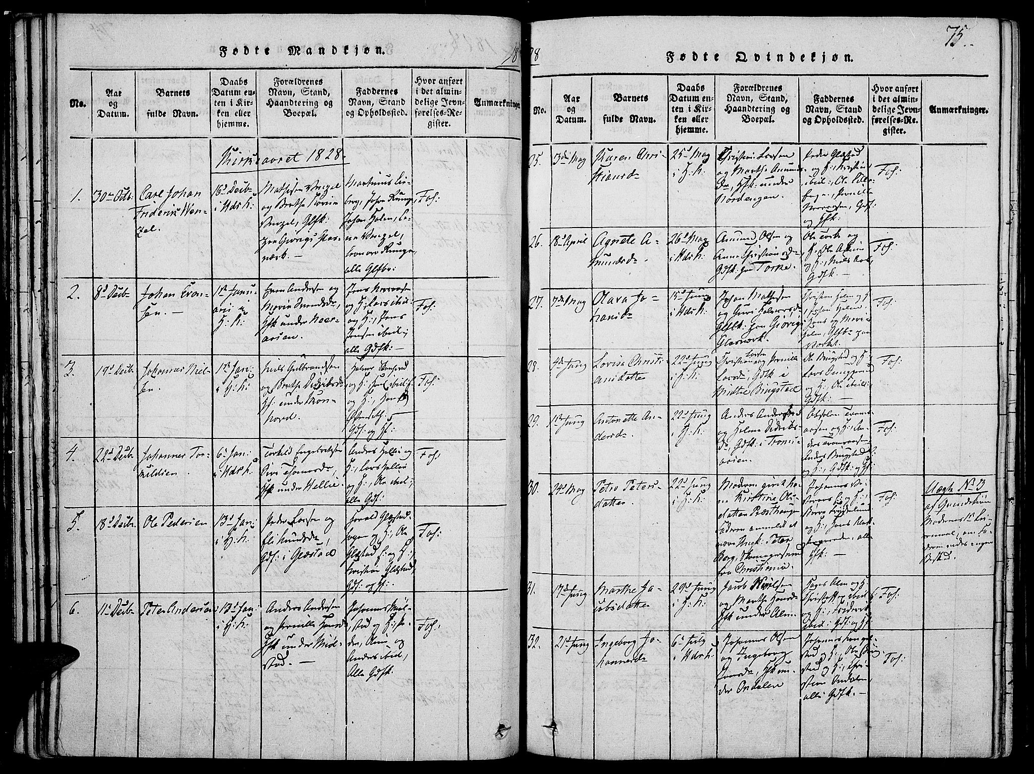 SAH, Vardal prestekontor, H/Ha/Haa/L0004: Ministerialbok nr. 4, 1814-1831, s. 75