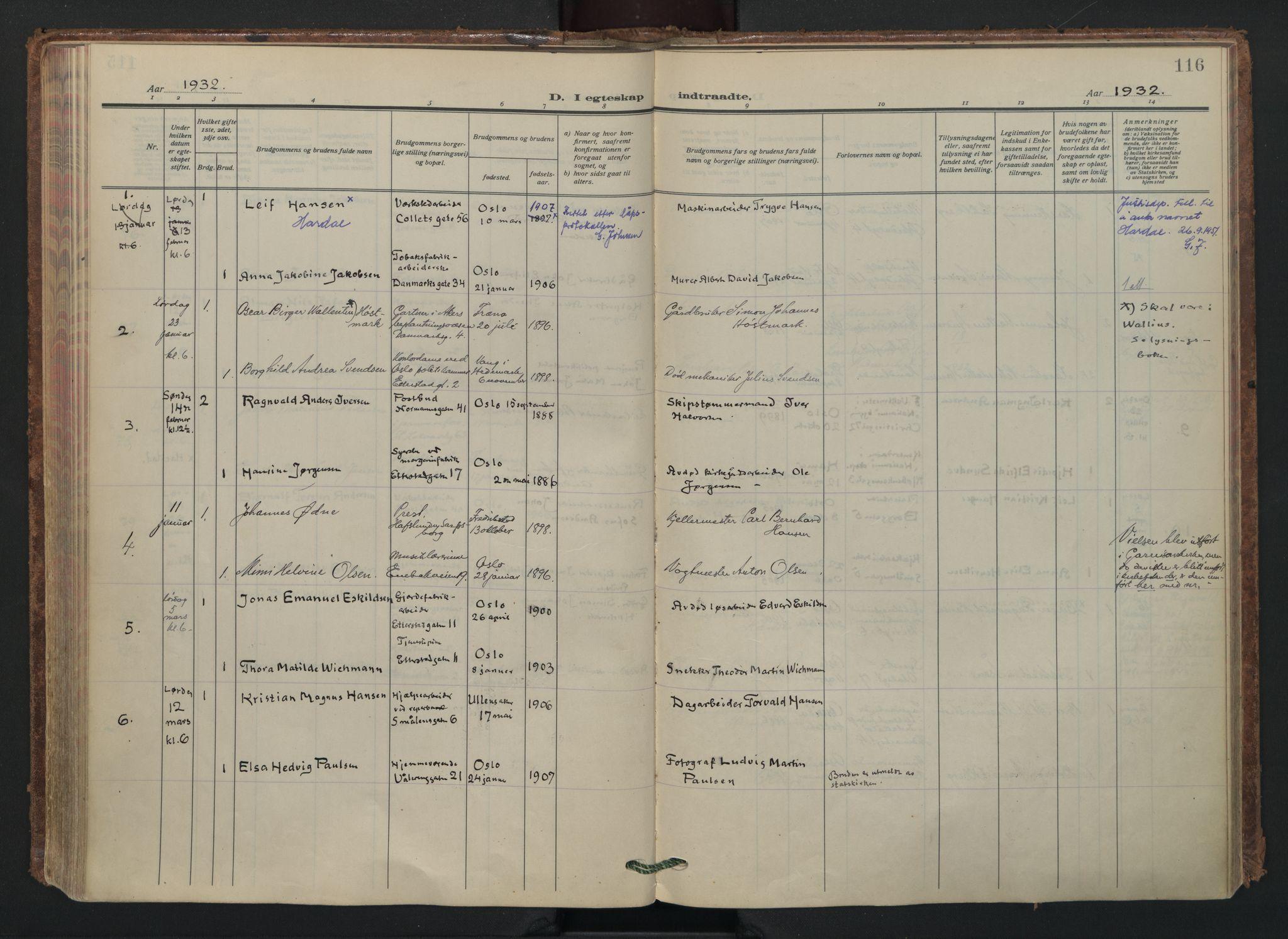 SAO, Vålerengen prestekontor Kirkebøker, F/Fa/L0005: Ministerialbok nr. 5, 1924-1936, s. 116