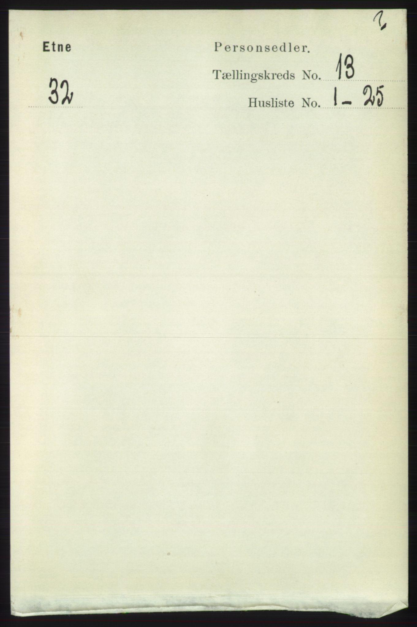 RA, Folketelling 1891 for 1211 Etne herred, 1891, s. 2739