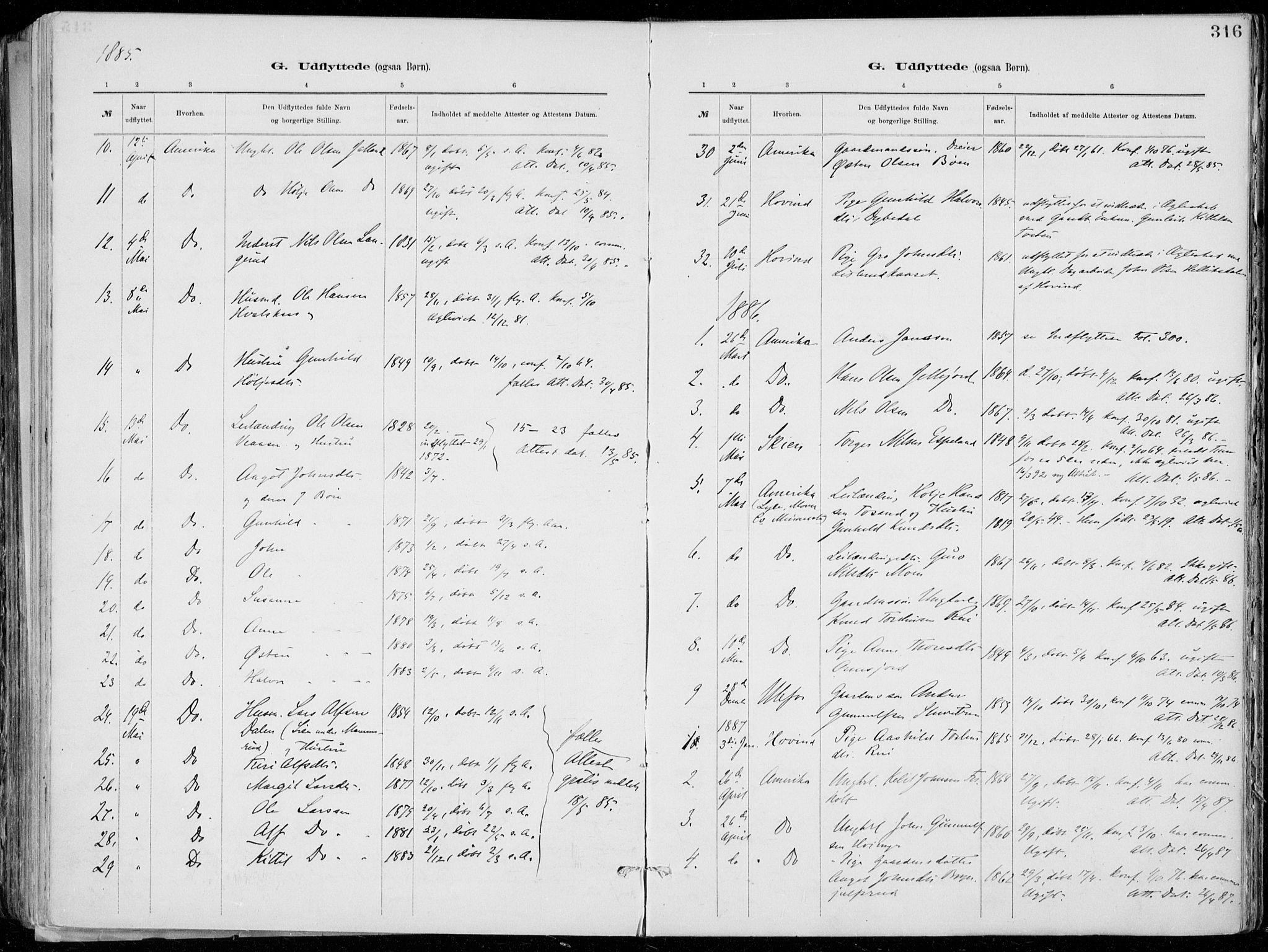 SAKO, Tinn kirkebøker, F/Fa/L0007: Ministerialbok nr. I 7, 1878-1922, s. 316