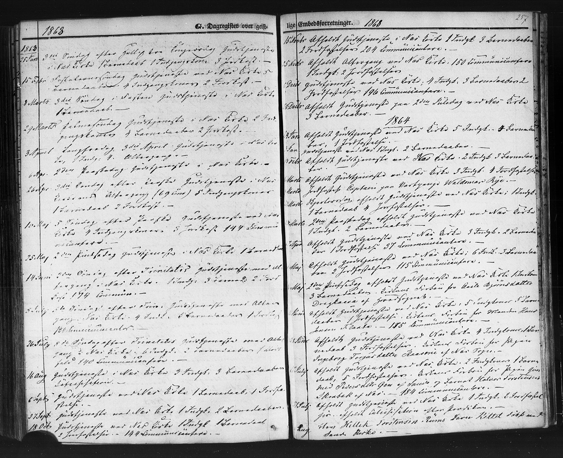 SAKO, Sauherad kirkebøker, F/Fb/L0001: Ministerialbok nr. II 1, 1851-1877, s. 257