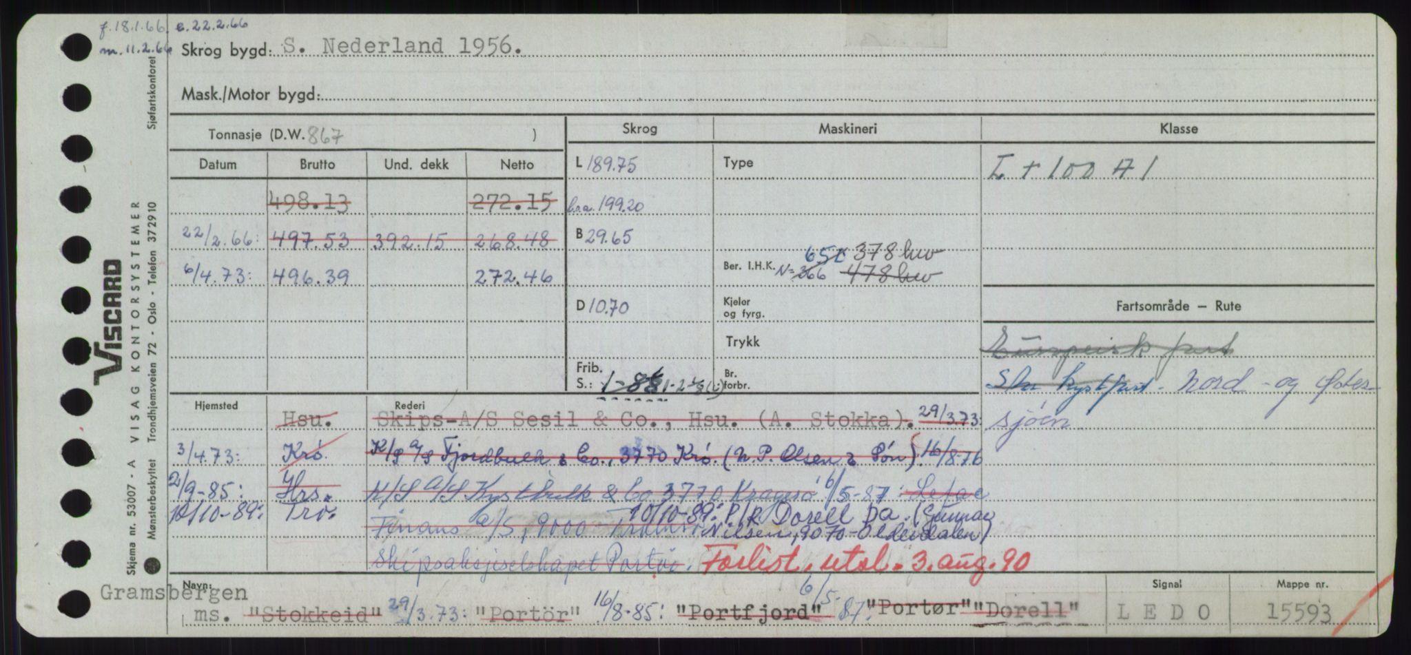 RA, Sjøfartsdirektoratet med forløpere, Skipsmålingen, H/Hd/L0008: Fartøy, C-D, s. 579