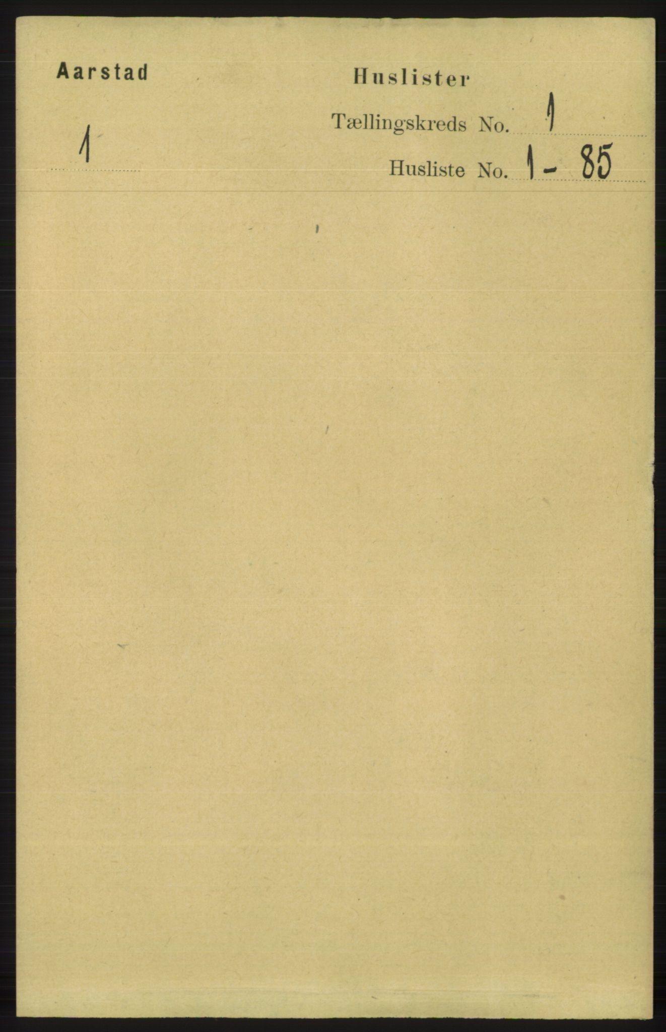 SAB, Folketelling 1891 for 1280 Årstad herred, 1891, s. 14