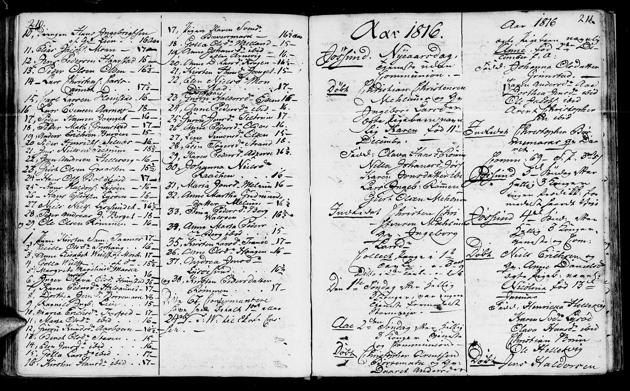 SAT, Ministerialprotokoller, klokkerbøker og fødselsregistre - Sør-Trøndelag, 655/L0674: Ministerialbok nr. 655A03, 1802-1826, s. 210-211