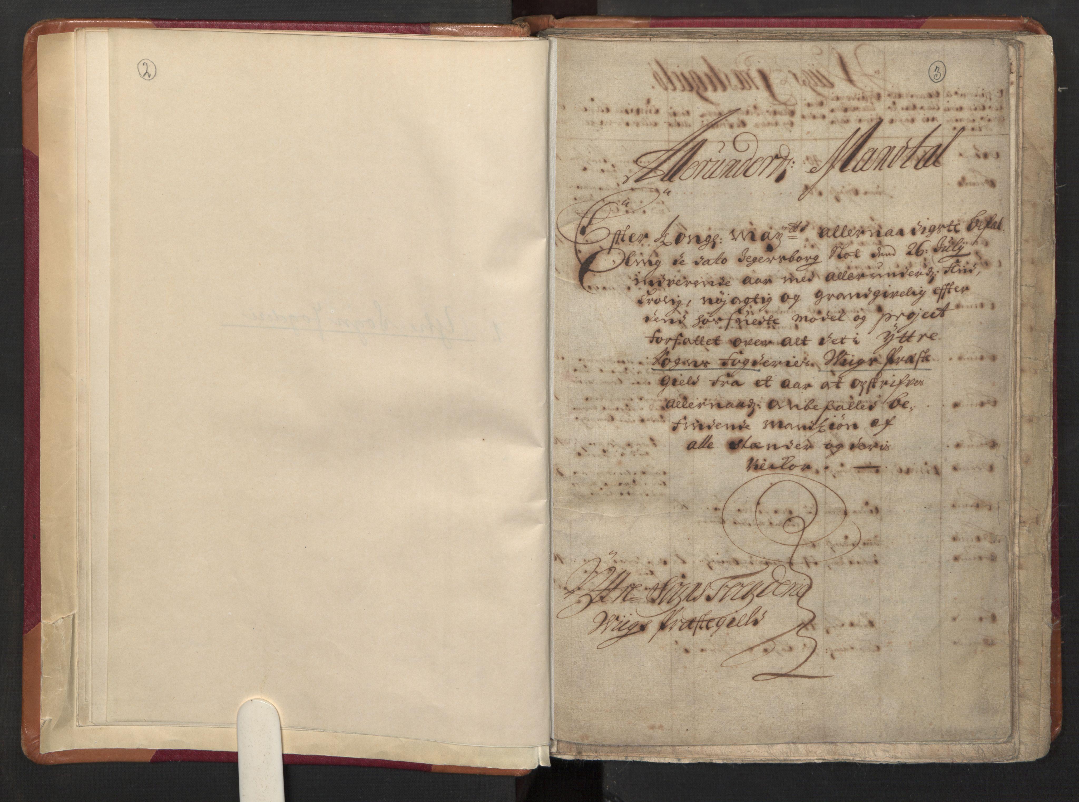 RA, Manntallet 1701, nr. 8: Ytre Sogn fogderi og Indre Sogn fogderi, 1701, s. 2-3