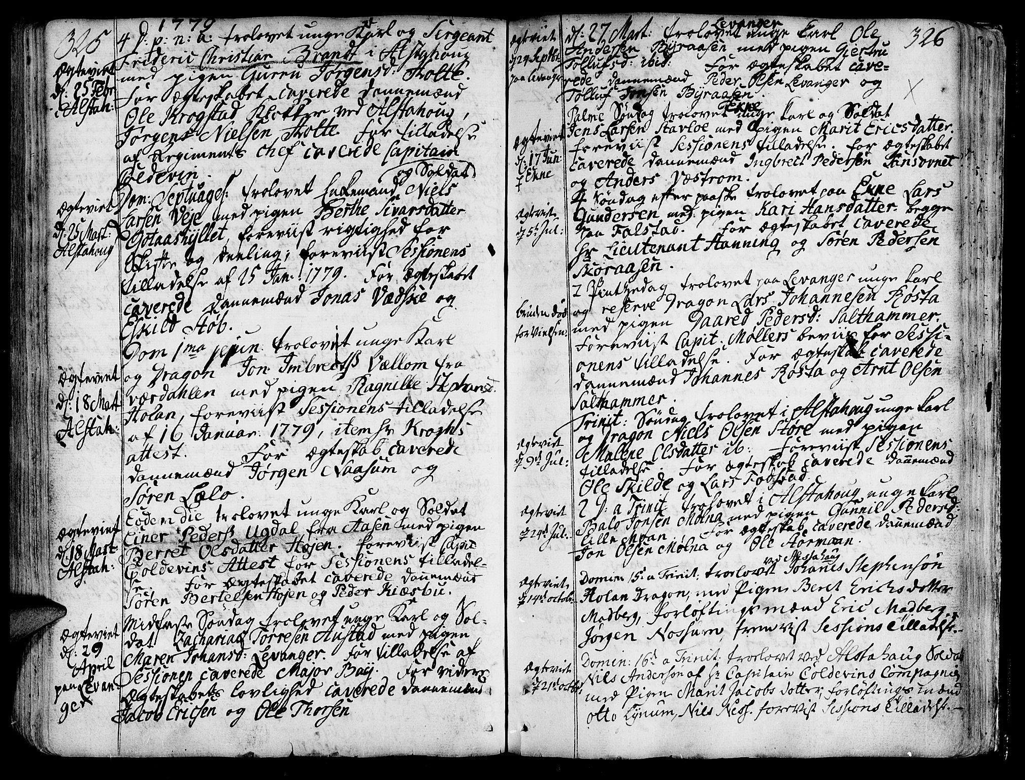 SAT, Ministerialprotokoller, klokkerbøker og fødselsregistre - Nord-Trøndelag, 717/L0141: Ministerialbok nr. 717A01, 1747-1803, s. 325-326