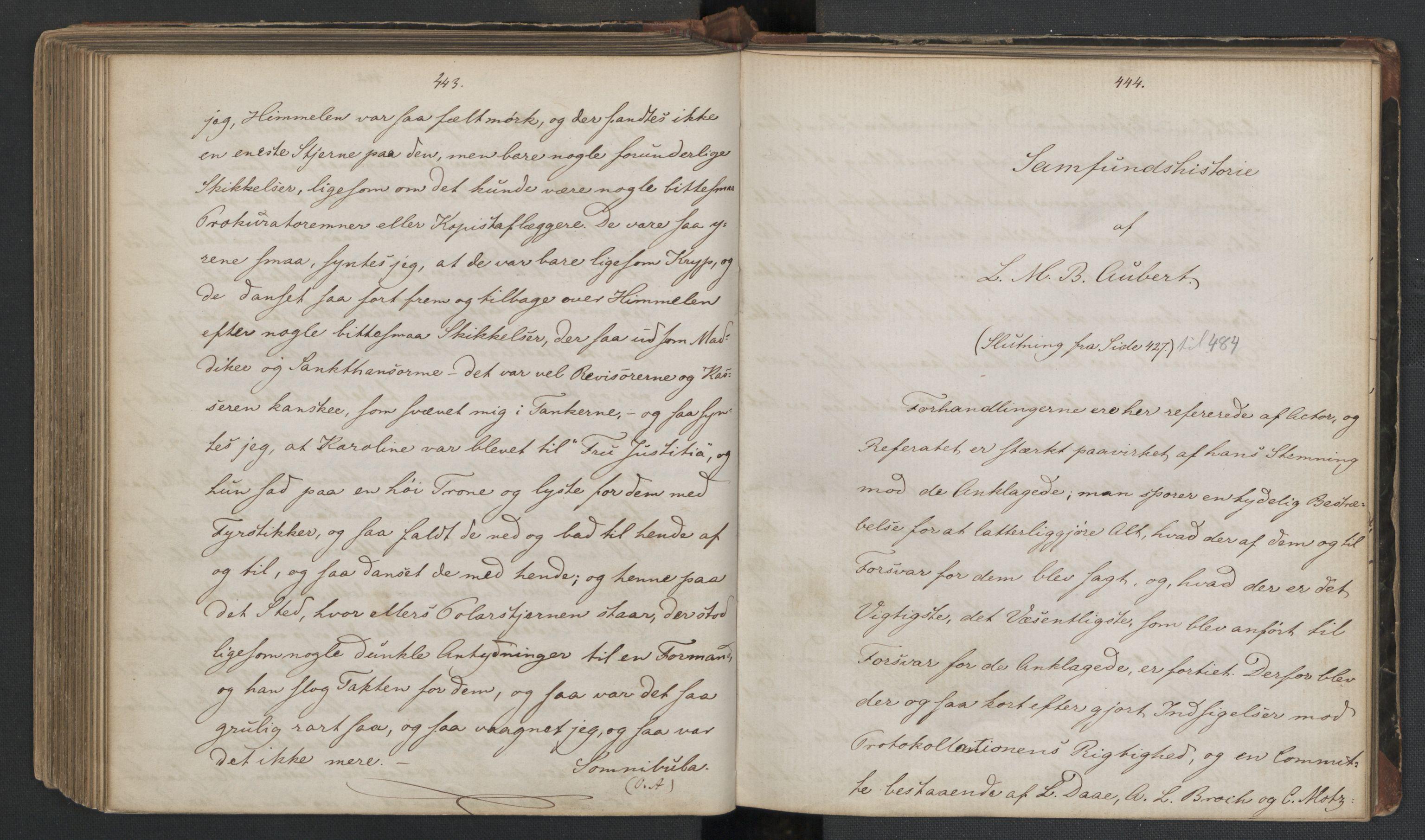RA, Det Norske Studentersamfund, X/Xa/L0006, 1856-1857, s. 226