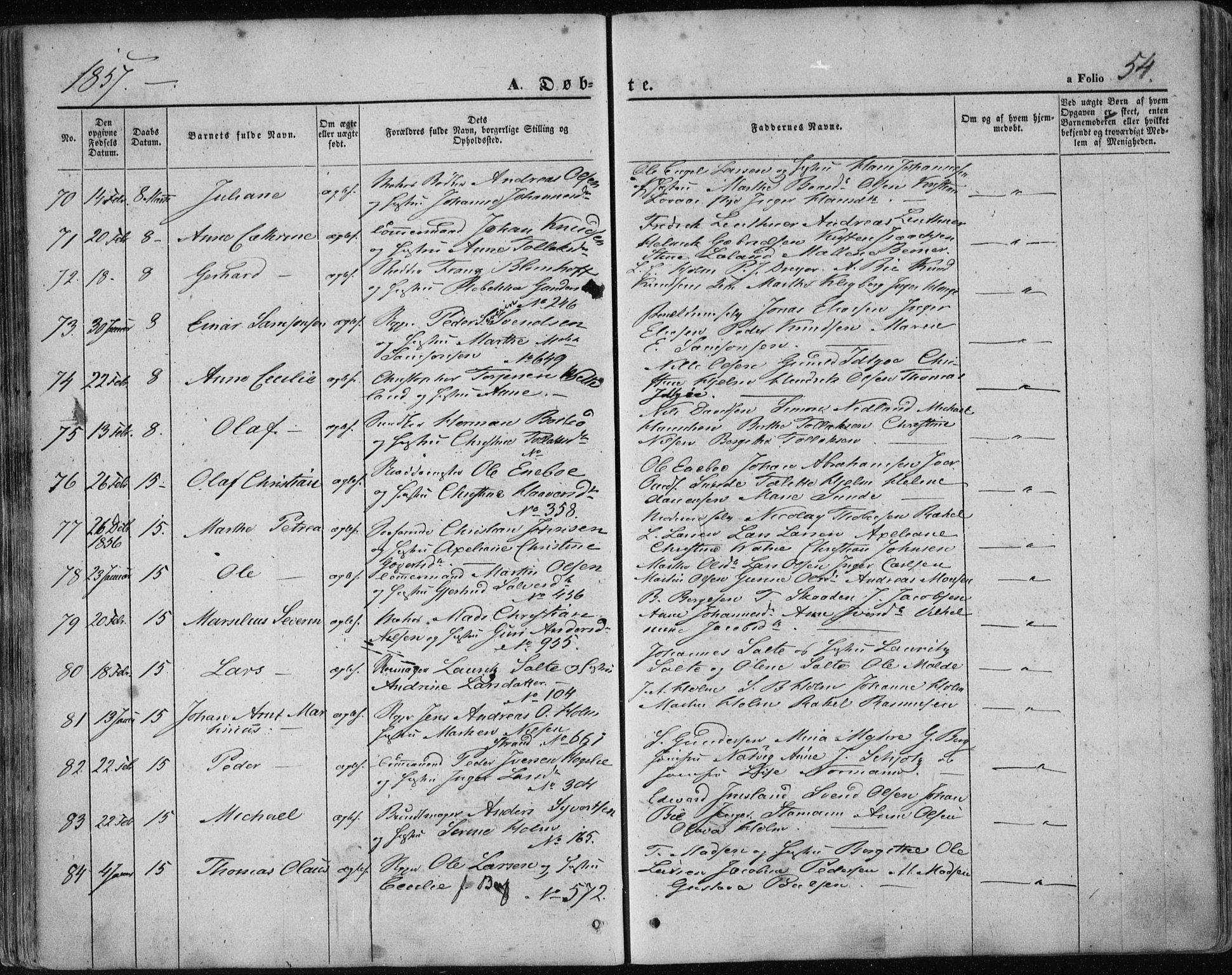 SAST, Domkirken sokneprestkontor, 30/30BA/L0017: Ministerialbok nr. A 16, 1855-1867, s. 54