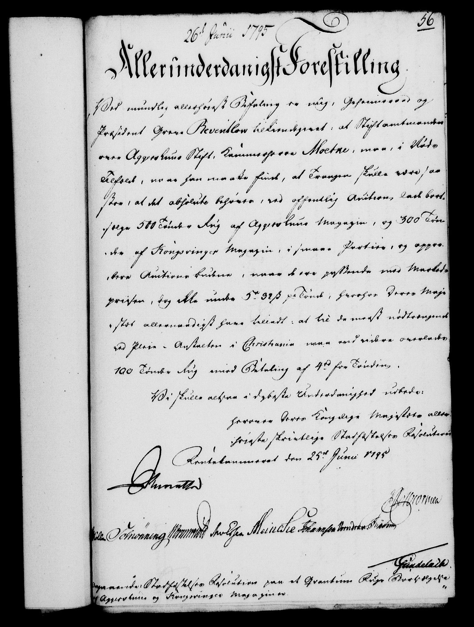 RA, Rentekammeret, Kammerkanselliet, G/Gf/Gfa/L0077: Norsk relasjons- og resolusjonsprotokoll (merket RK 52.77), 1795, s. 303