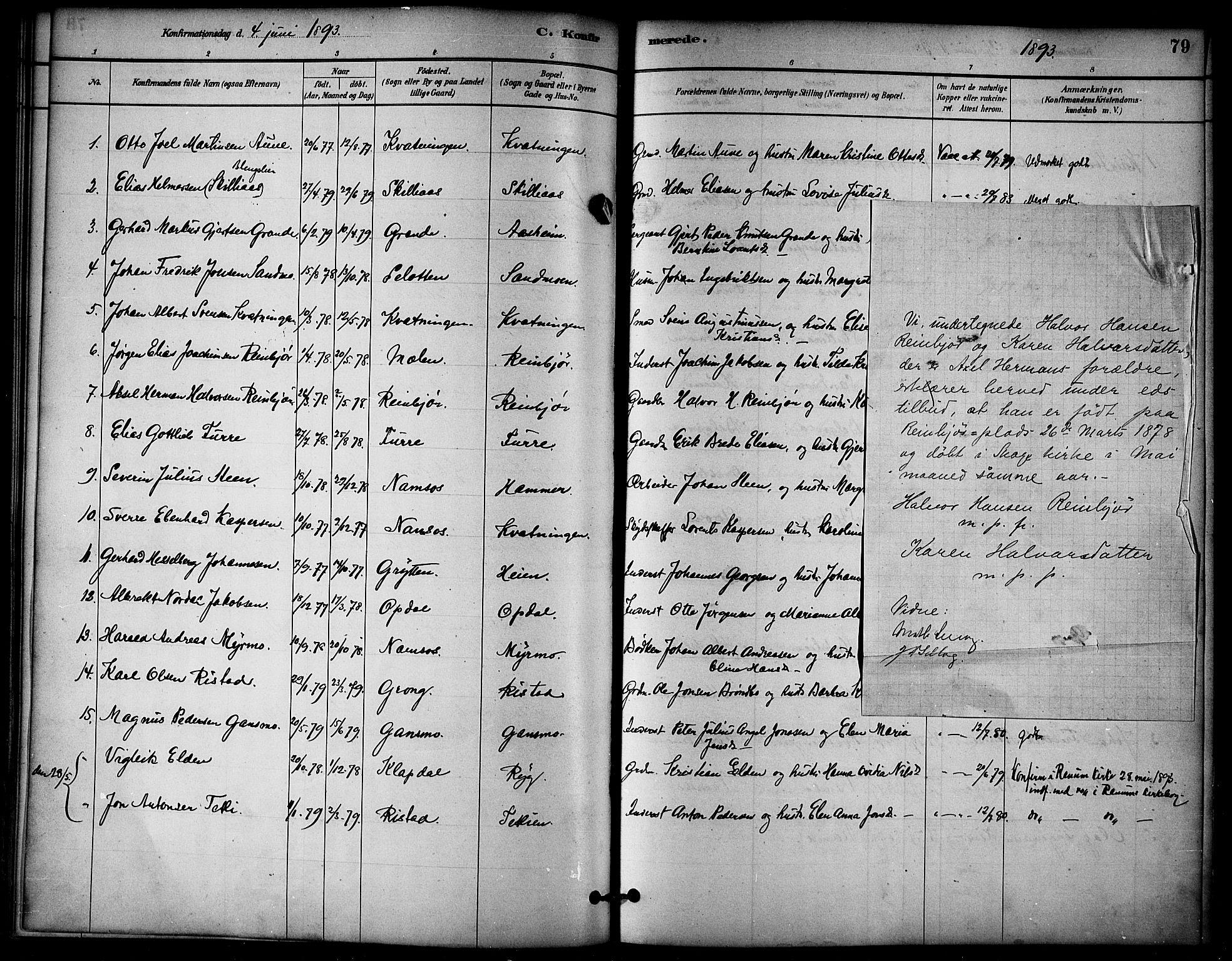 SAT, Ministerialprotokoller, klokkerbøker og fødselsregistre - Nord-Trøndelag, 766/L0563: Ministerialbok nr. 767A01, 1881-1899, s. 79