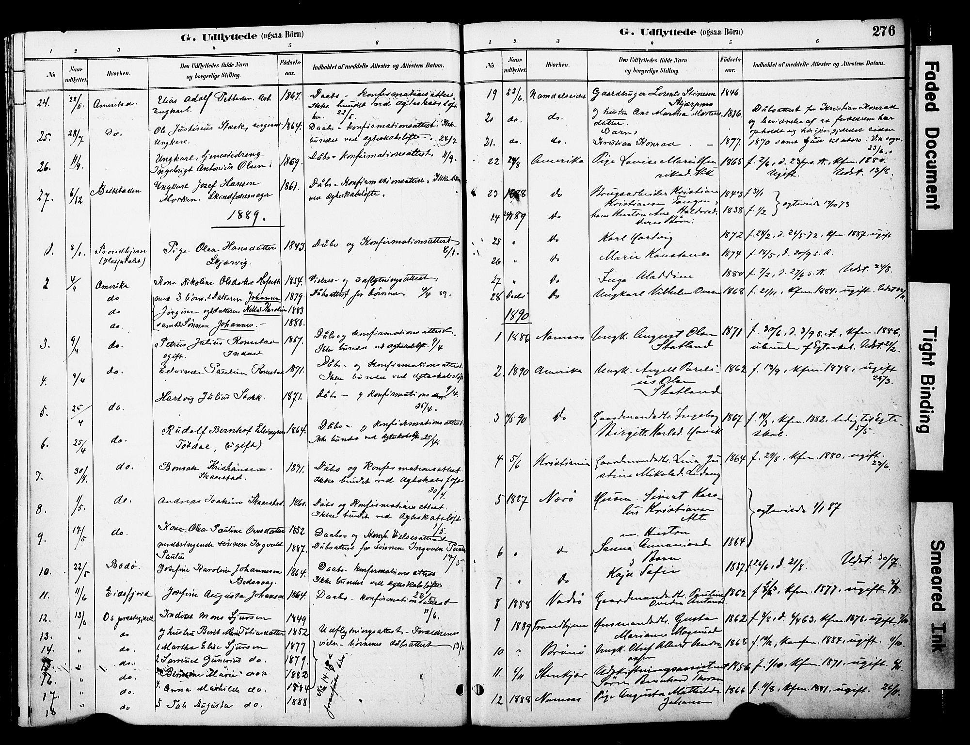 SAT, Ministerialprotokoller, klokkerbøker og fødselsregistre - Nord-Trøndelag, 774/L0628: Ministerialbok nr. 774A02, 1887-1903, s. 276