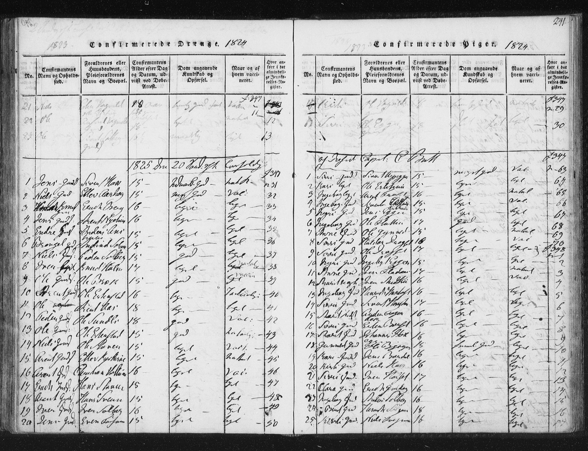 SAT, Ministerialprotokoller, klokkerbøker og fødselsregistre - Sør-Trøndelag, 689/L1037: Ministerialbok nr. 689A02, 1816-1842, s. 241