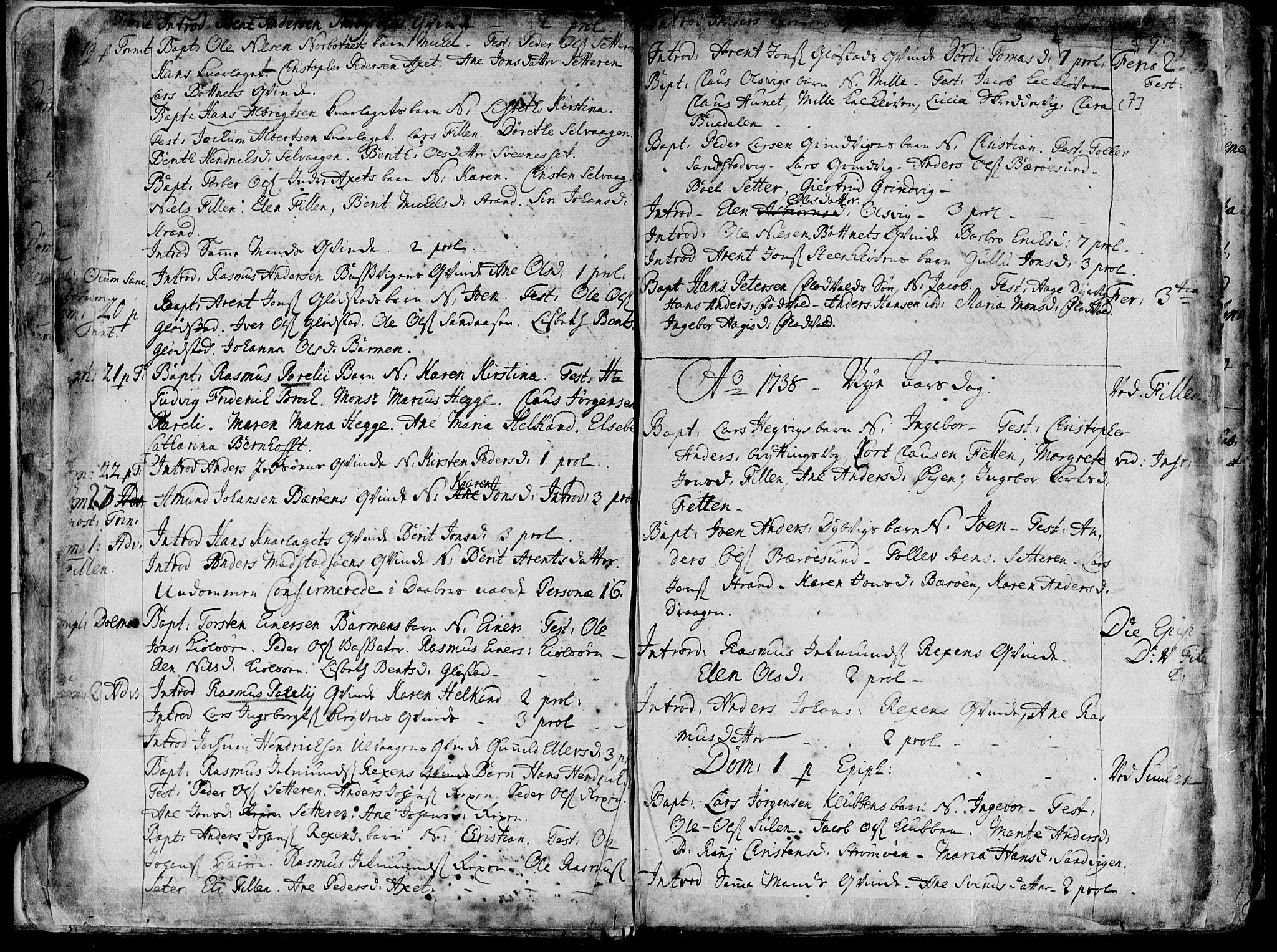 SAT, Ministerialprotokoller, klokkerbøker og fødselsregistre - Sør-Trøndelag, 634/L0525: Ministerialbok nr. 634A01, 1736-1775, s. 7