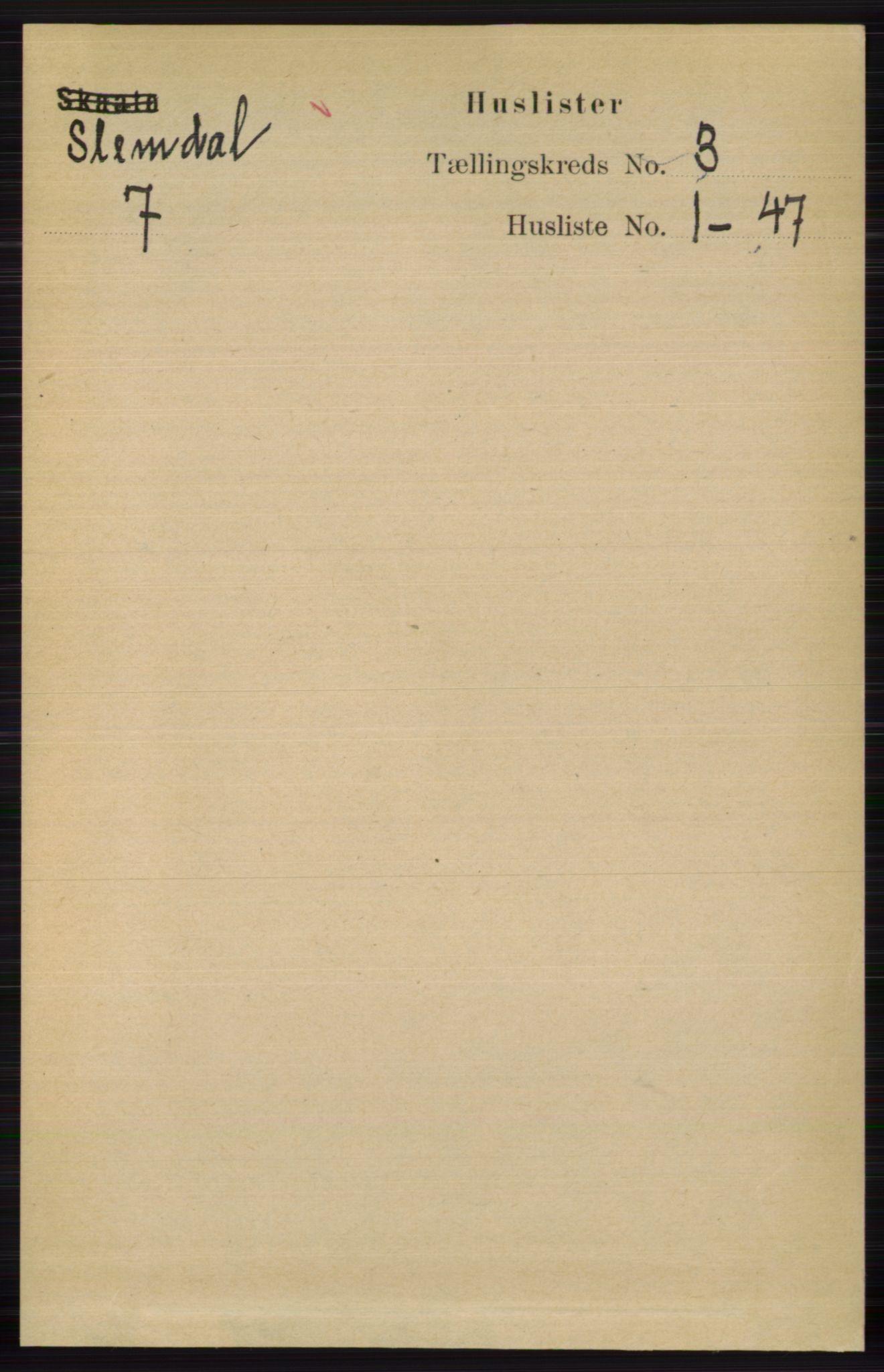 RA, Folketelling 1891 for 0811 Slemdal herred, 1891, s. 704